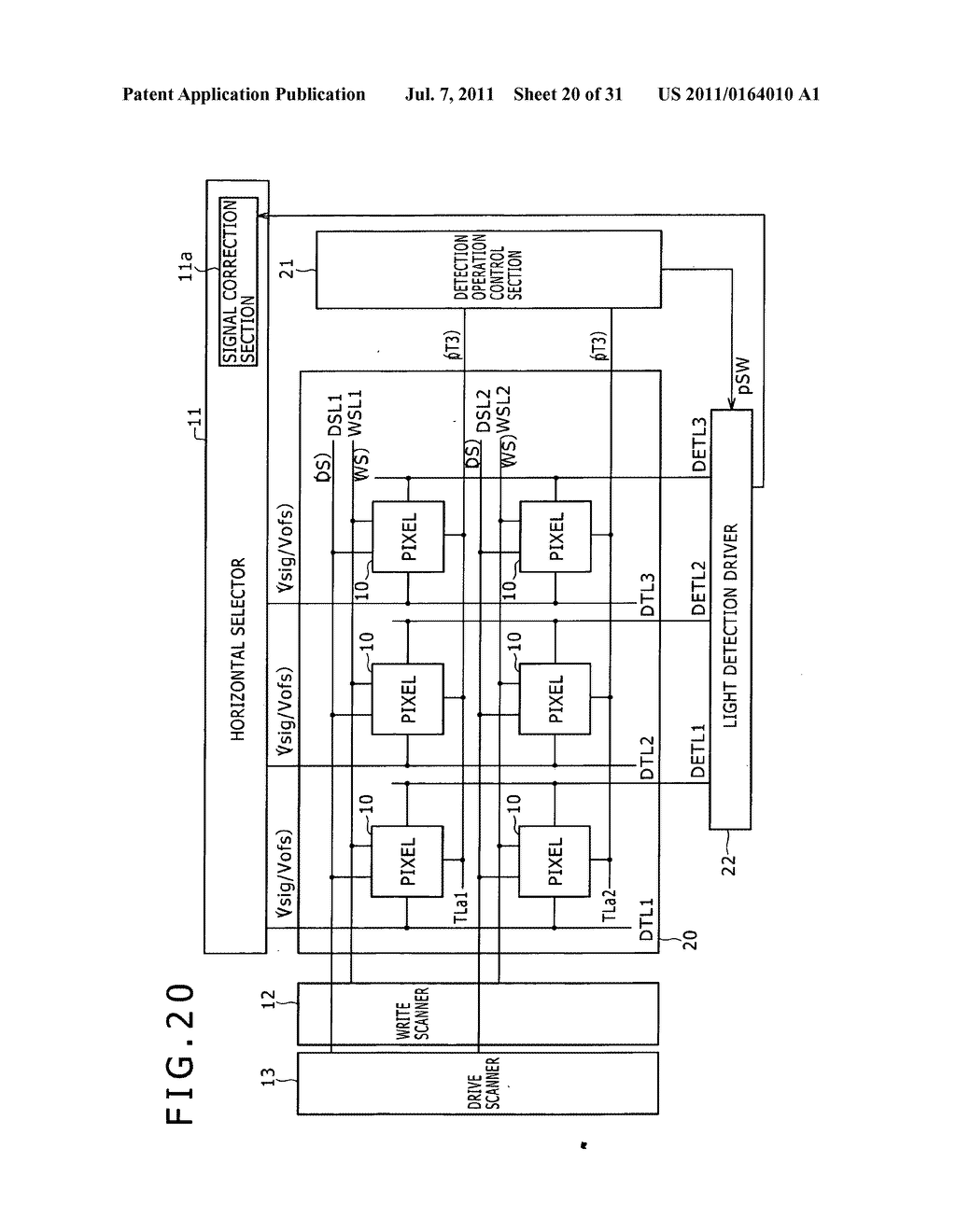 Display apparatus, light detection method and electronic apparatus - diagram, schematic, and image 21