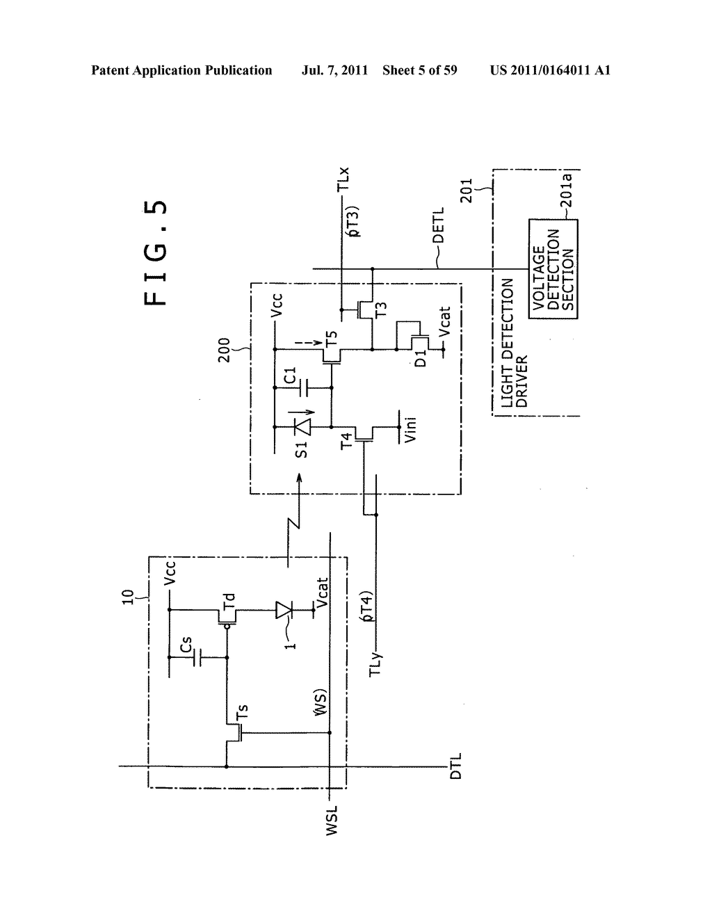 Display apparatus, light detection method and electronic apparatus - diagram, schematic, and image 06