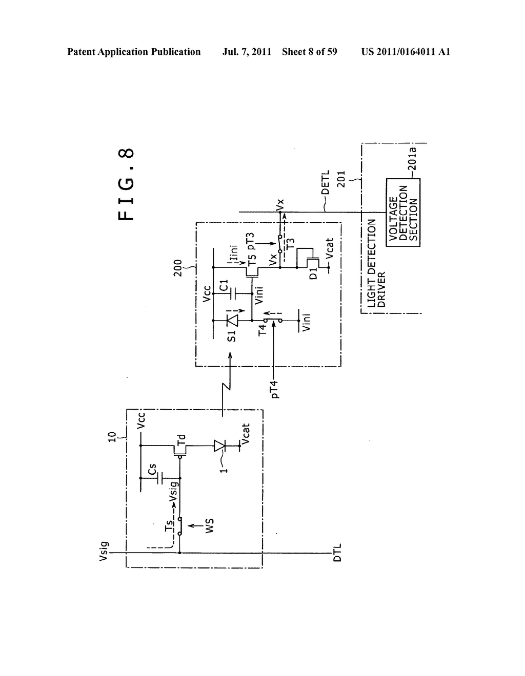 Display apparatus, light detection method and electronic apparatus - diagram, schematic, and image 09