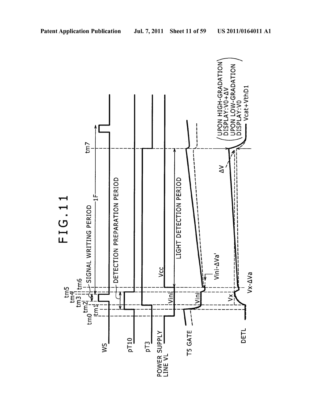 Display apparatus, light detection method and electronic apparatus - diagram, schematic, and image 12