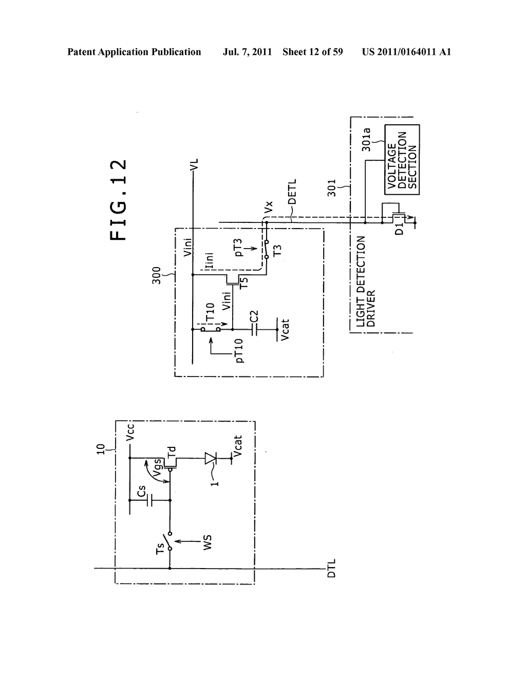 Display apparatus, light detection method and electronic apparatus - diagram, schematic, and image 13