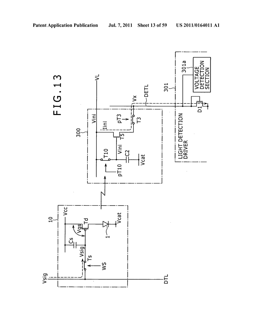 Display apparatus, light detection method and electronic apparatus - diagram, schematic, and image 14