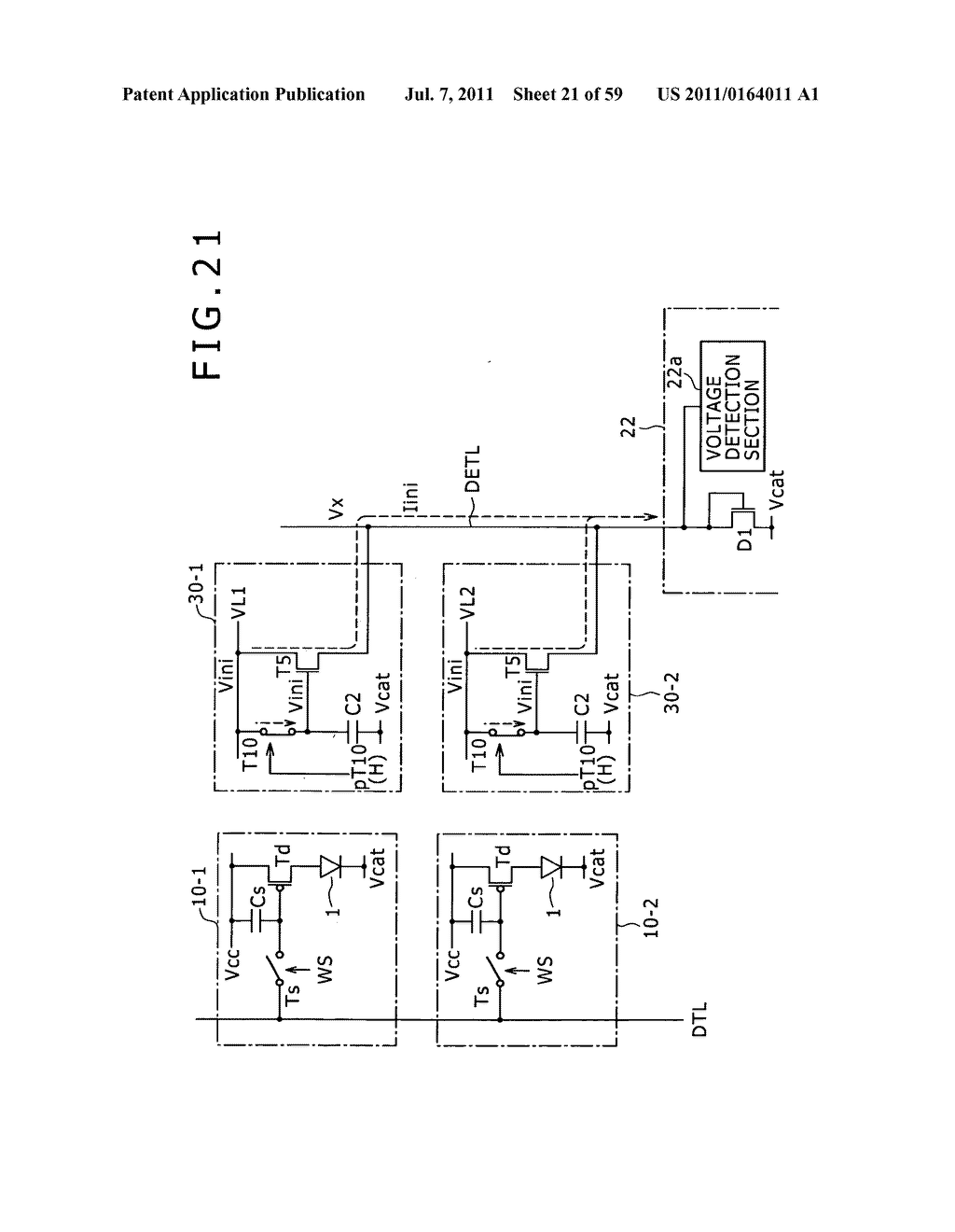 Display apparatus, light detection method and electronic apparatus - diagram, schematic, and image 22