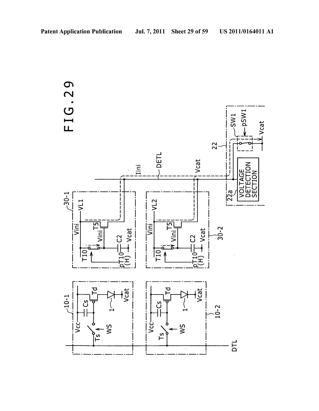 Display apparatus, light detection method and electronic apparatus - diagram, schematic, and image 30