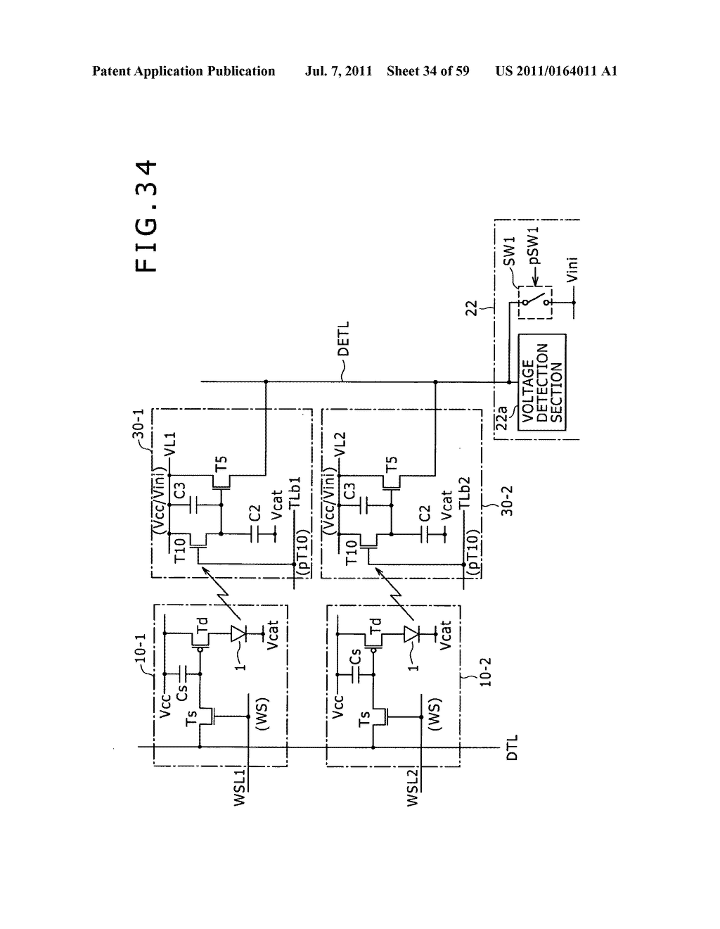 Display apparatus, light detection method and electronic apparatus - diagram, schematic, and image 35