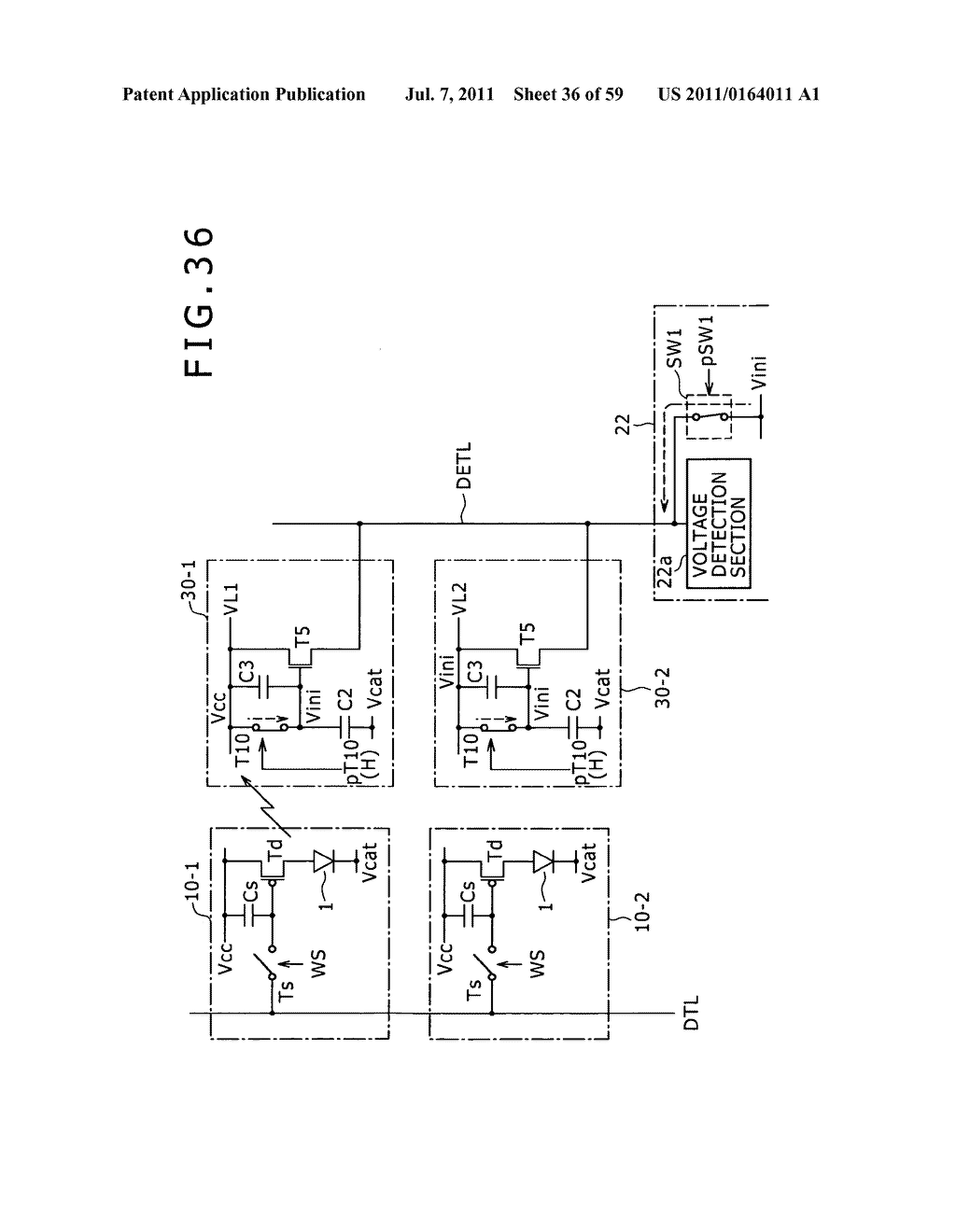 Display apparatus, light detection method and electronic apparatus - diagram, schematic, and image 37