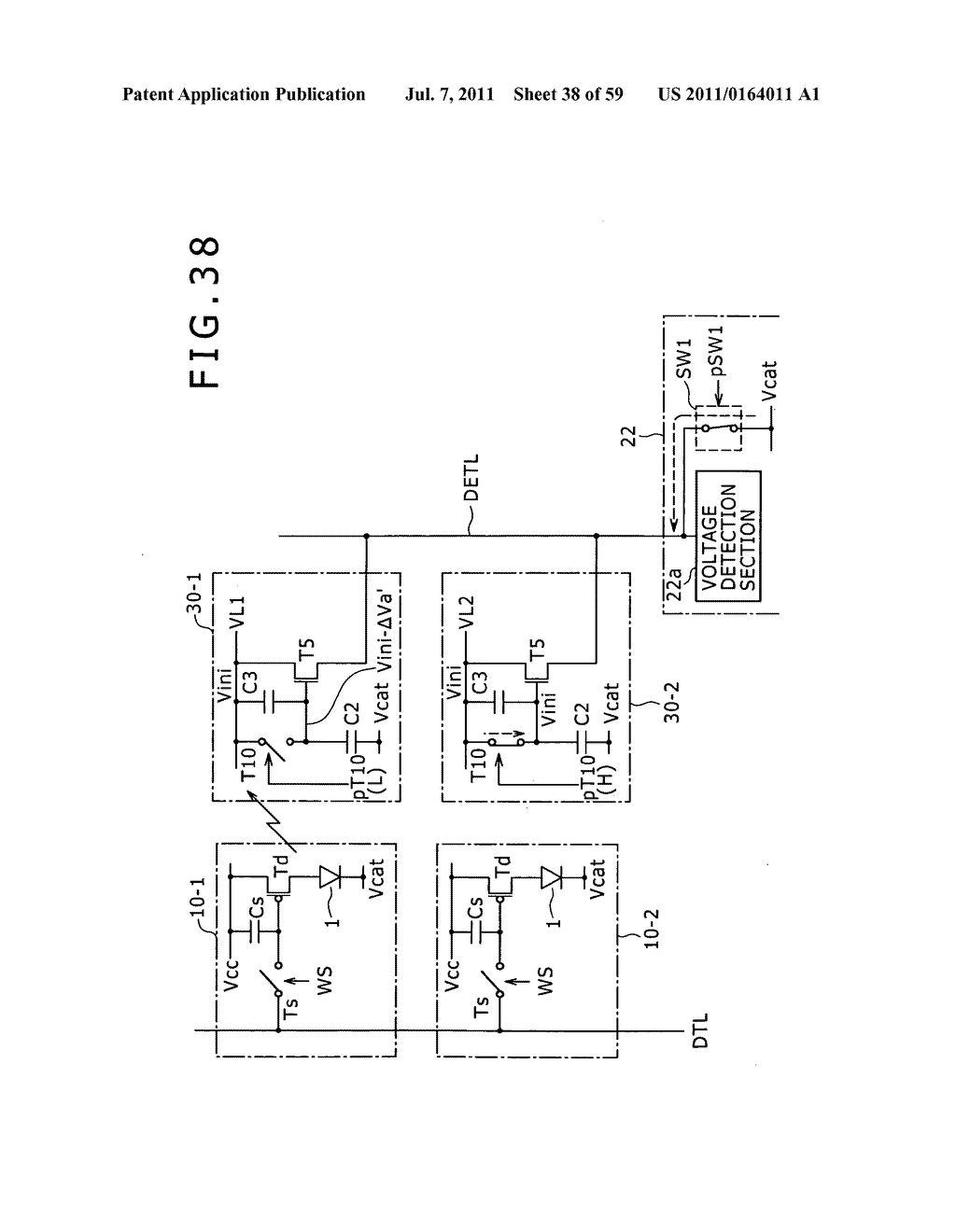 Display apparatus, light detection method and electronic apparatus - diagram, schematic, and image 39