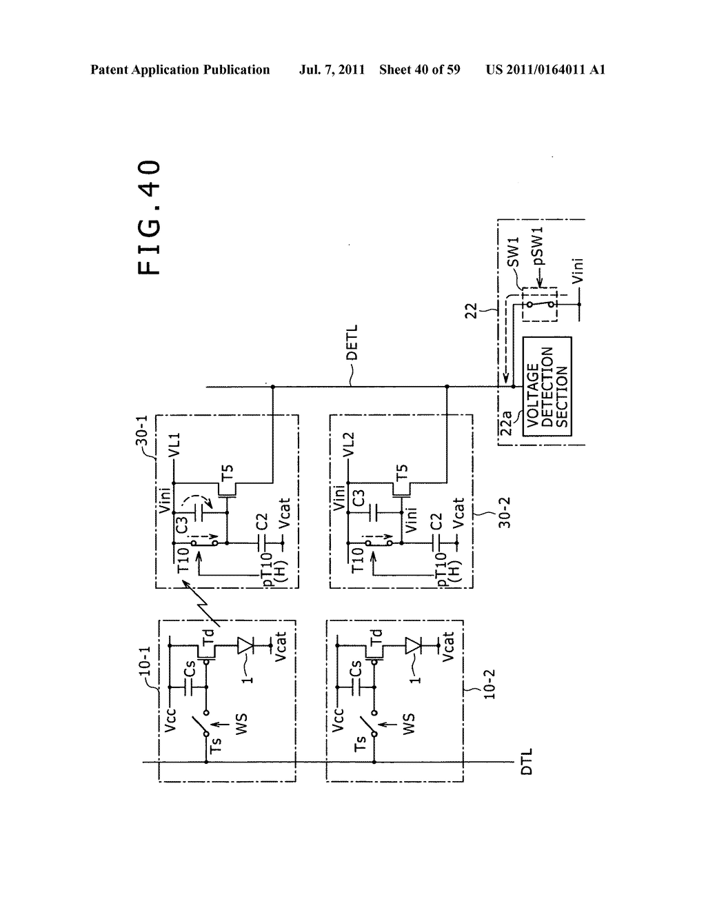 Display apparatus, light detection method and electronic apparatus - diagram, schematic, and image 41
