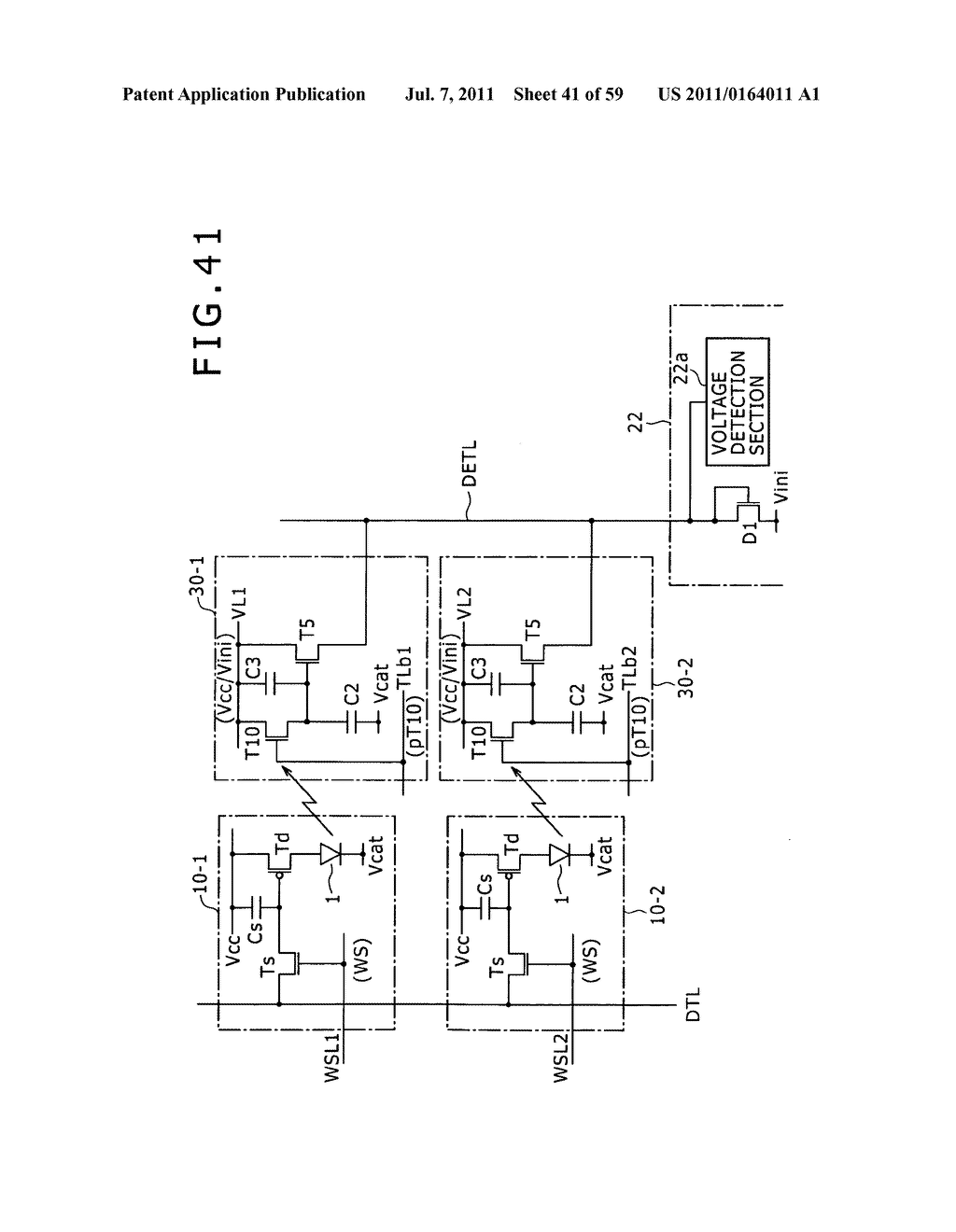 Display apparatus, light detection method and electronic apparatus - diagram, schematic, and image 42