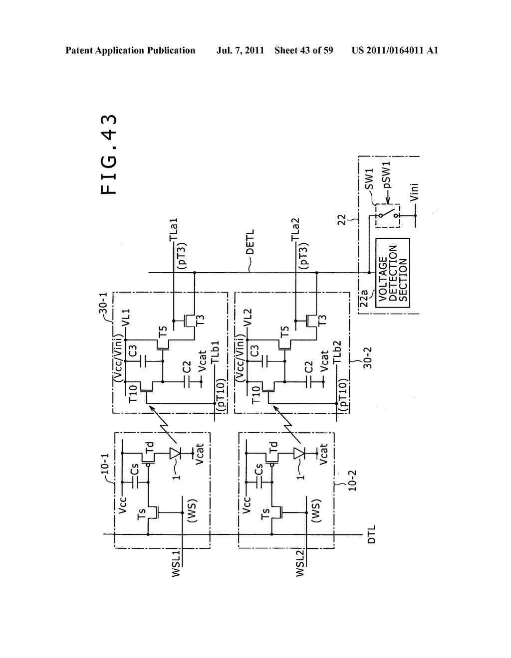 Display apparatus, light detection method and electronic apparatus - diagram, schematic, and image 44