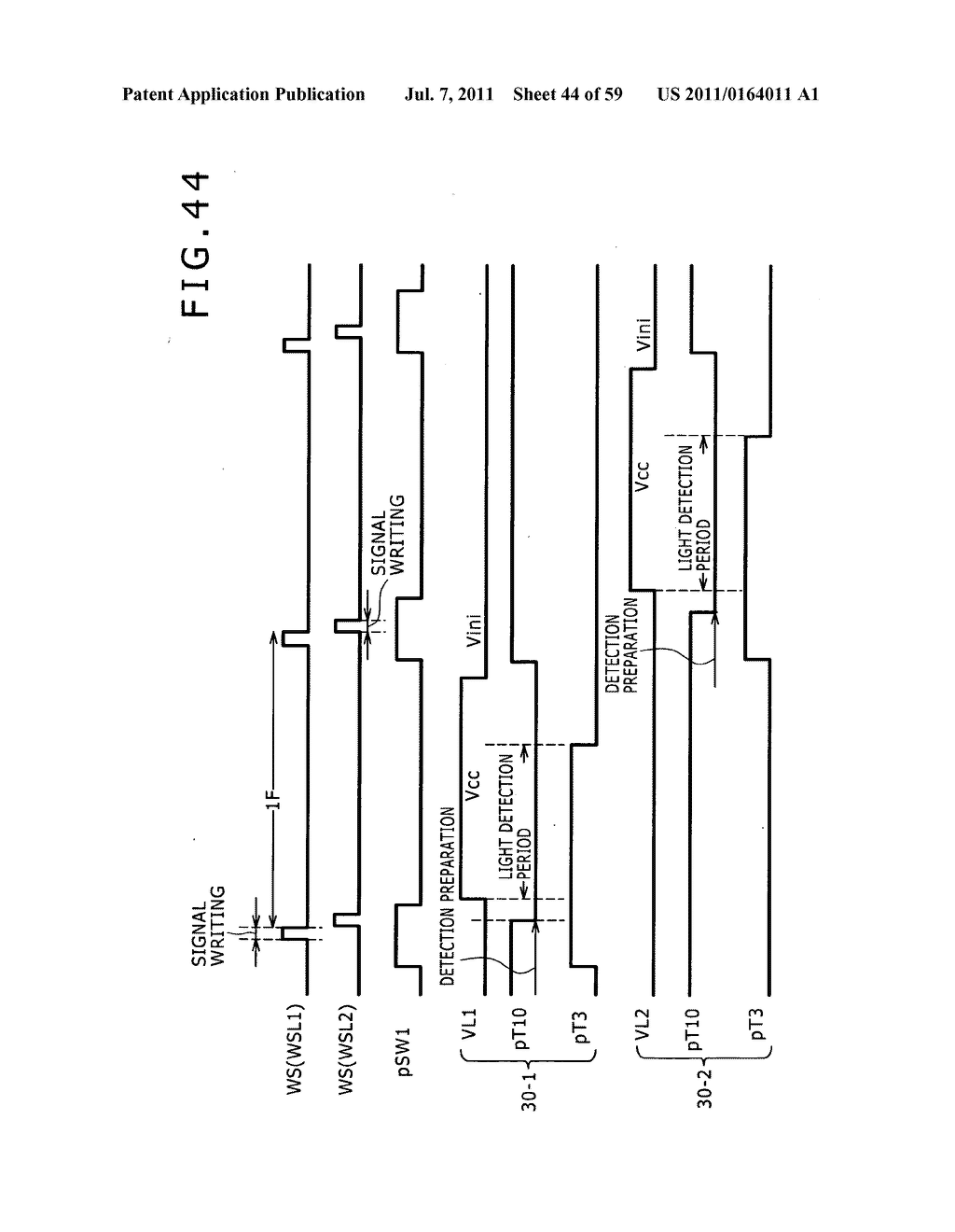 Display apparatus, light detection method and electronic apparatus - diagram, schematic, and image 45