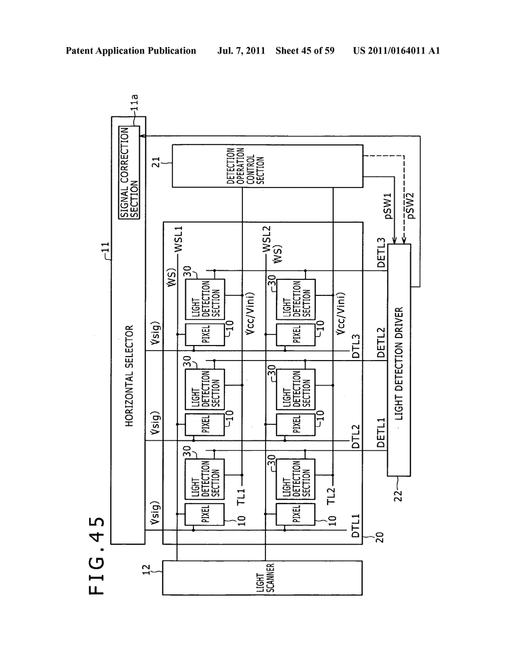 Display apparatus, light detection method and electronic apparatus - diagram, schematic, and image 46