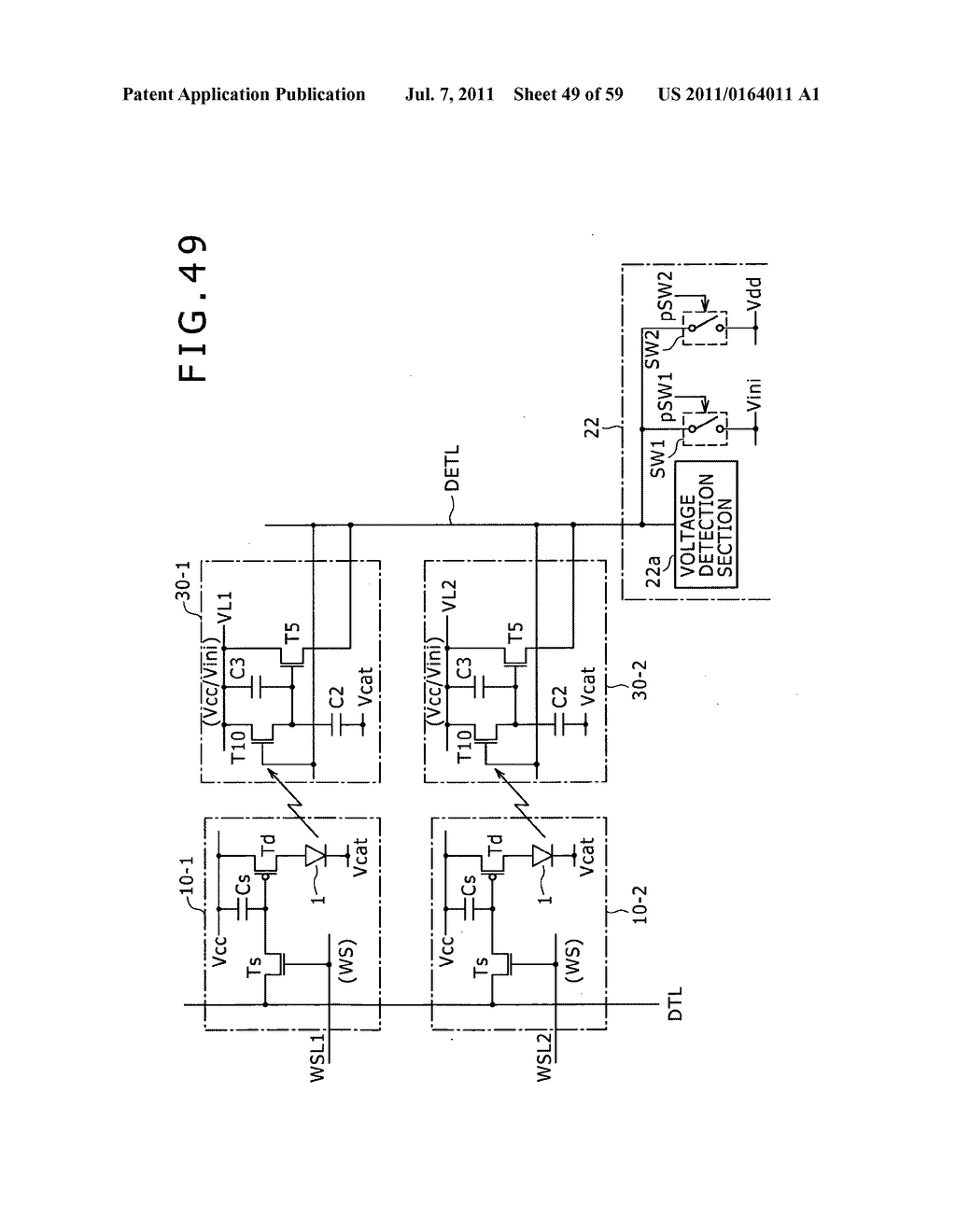 Display apparatus, light detection method and electronic apparatus - diagram, schematic, and image 50