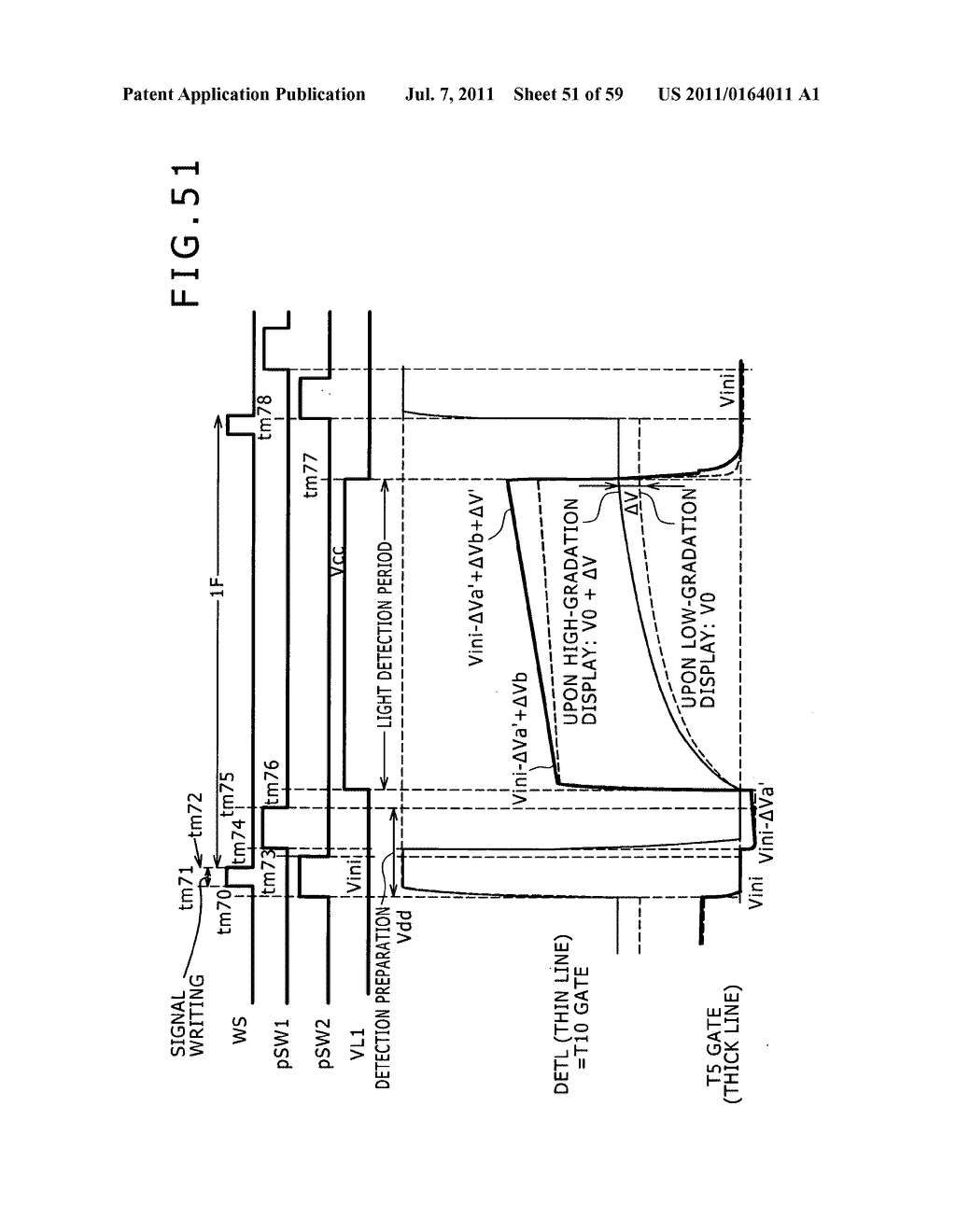 Display apparatus, light detection method and electronic apparatus - diagram, schematic, and image 52
