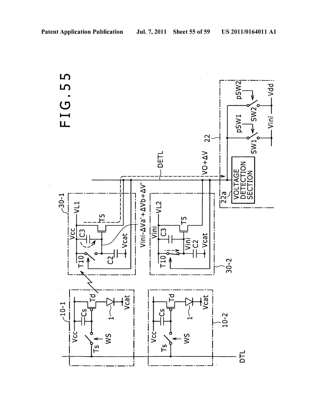 Display apparatus, light detection method and electronic apparatus - diagram, schematic, and image 56