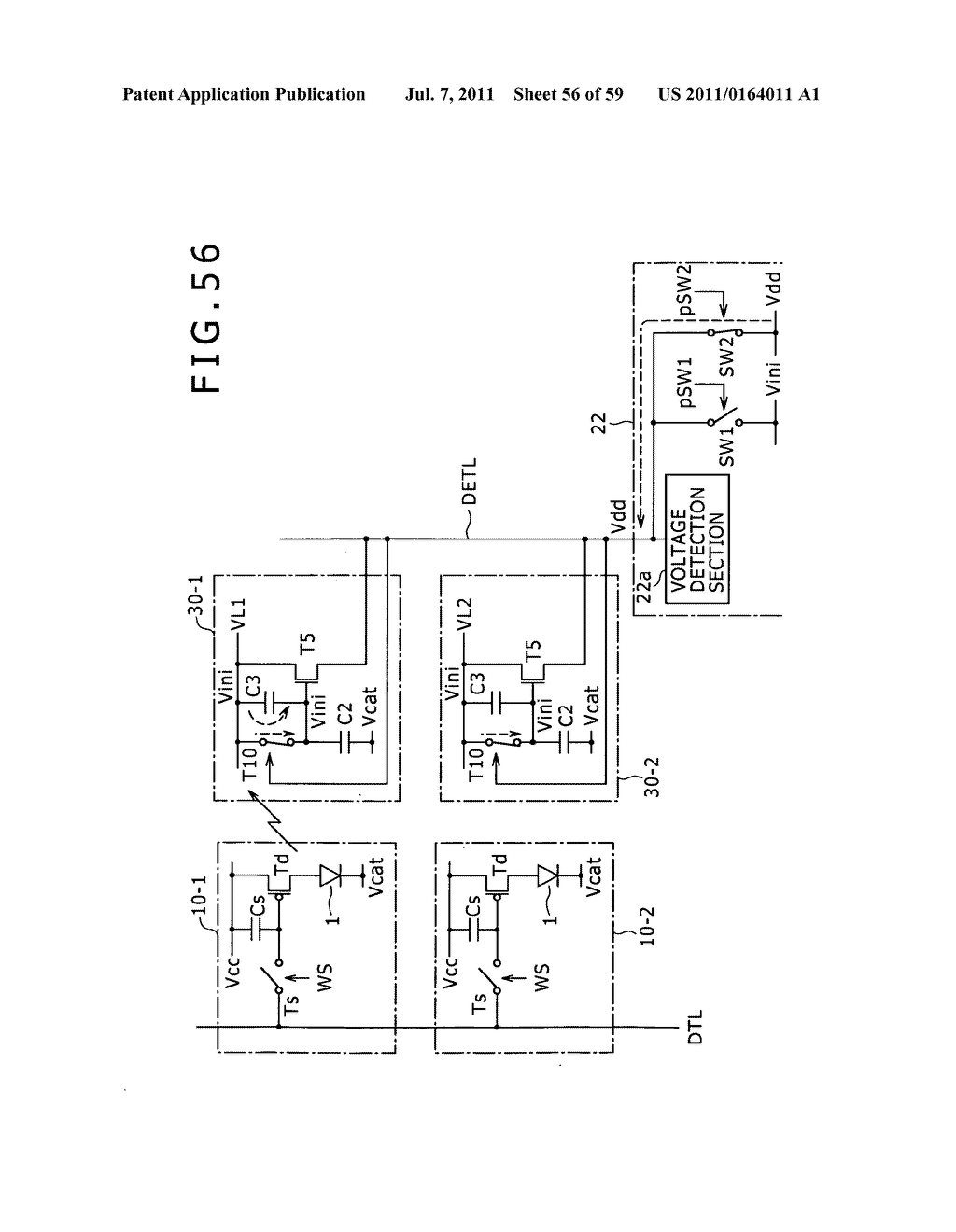 Display apparatus, light detection method and electronic apparatus - diagram, schematic, and image 57