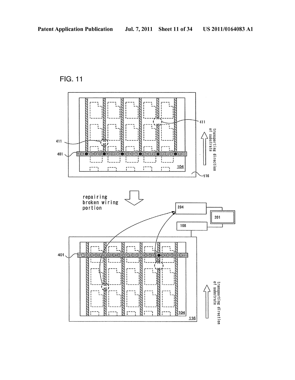 Liquid Droplet Ejection System and Control Program of Ejection Condition     of Compositions - diagram, schematic, and image 12