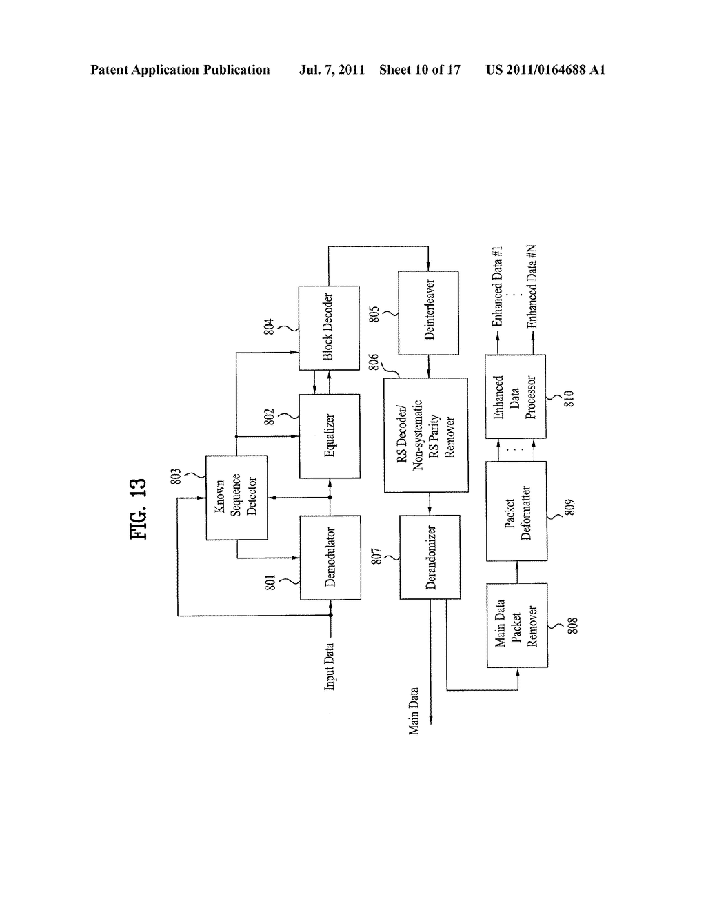 DTV TRANSMITTING SYSTEM AND RECEIVING SYSTEM AND METHOD OF PROCESSING     BROADCAST SIGNAL - diagram, schematic, and image 11