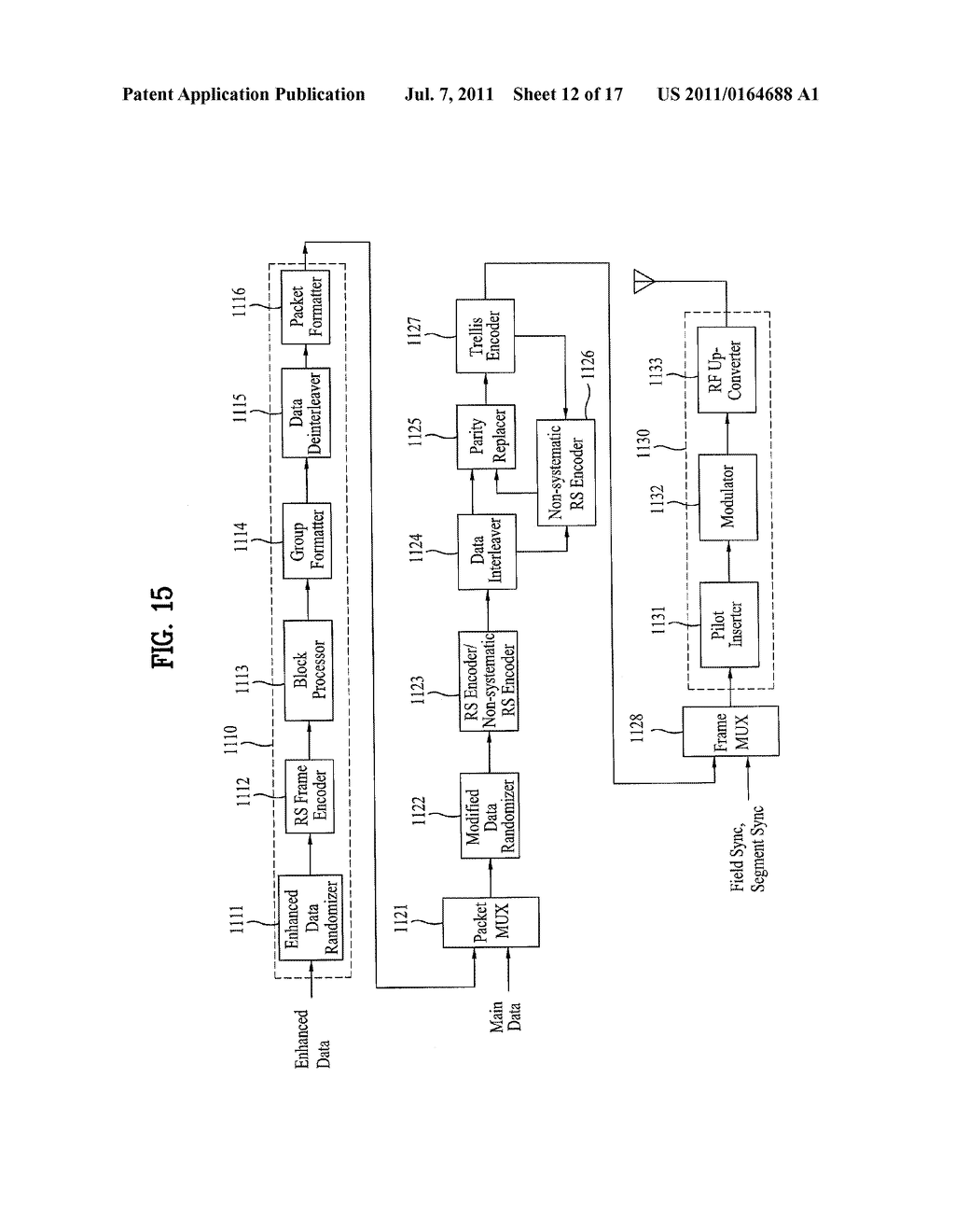 DTV TRANSMITTING SYSTEM AND RECEIVING SYSTEM AND METHOD OF PROCESSING     BROADCAST SIGNAL - diagram, schematic, and image 13