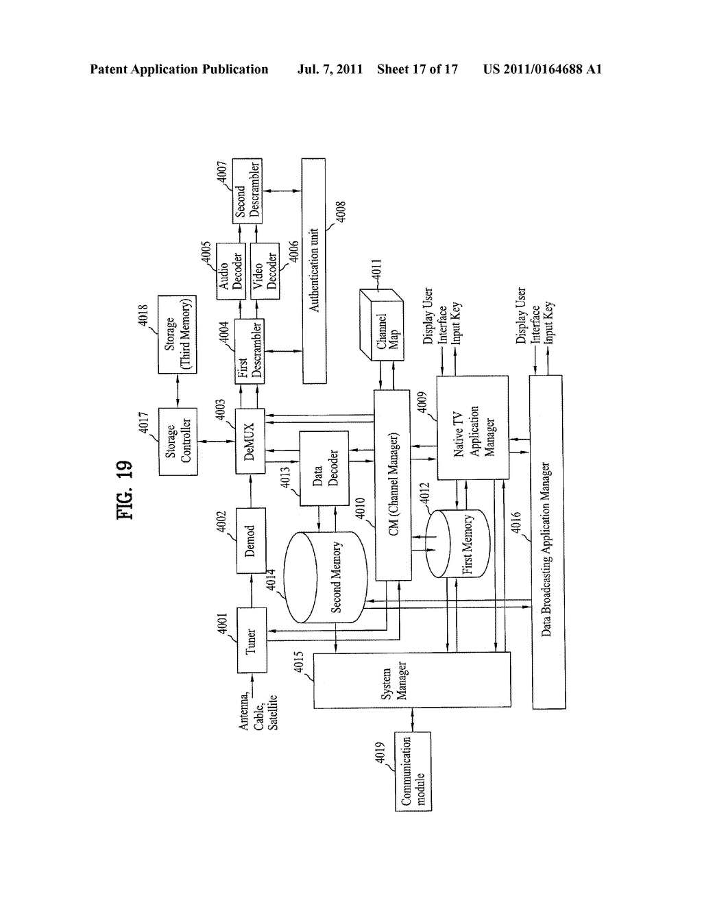 DTV TRANSMITTING SYSTEM AND RECEIVING SYSTEM AND METHOD OF PROCESSING     BROADCAST SIGNAL - diagram, schematic, and image 18