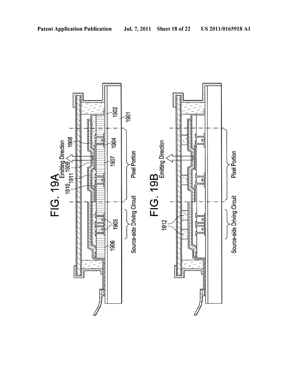 LIGHT-EMITTING DEVICE AND DISPLAY DEVICE - diagram, schematic, and image 19