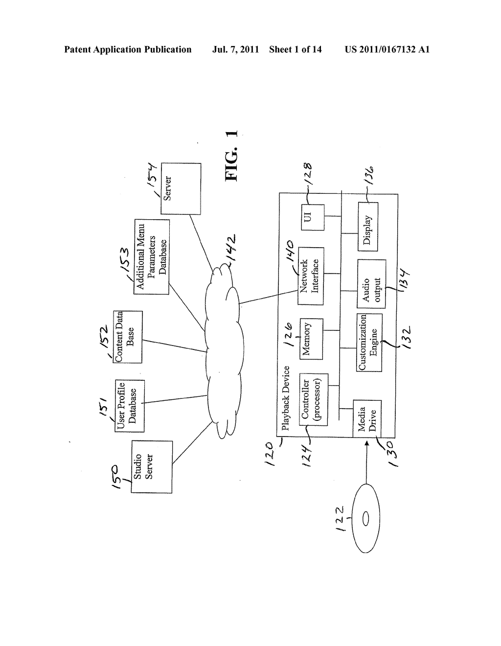 METHODS AND SYSTEMS FOR USE IN CUSTOMIZING DISPLAYED CONTENT ASSOCIATED     WITH A PORTABLE STORAGE MEDIUM - diagram, schematic, and image 02