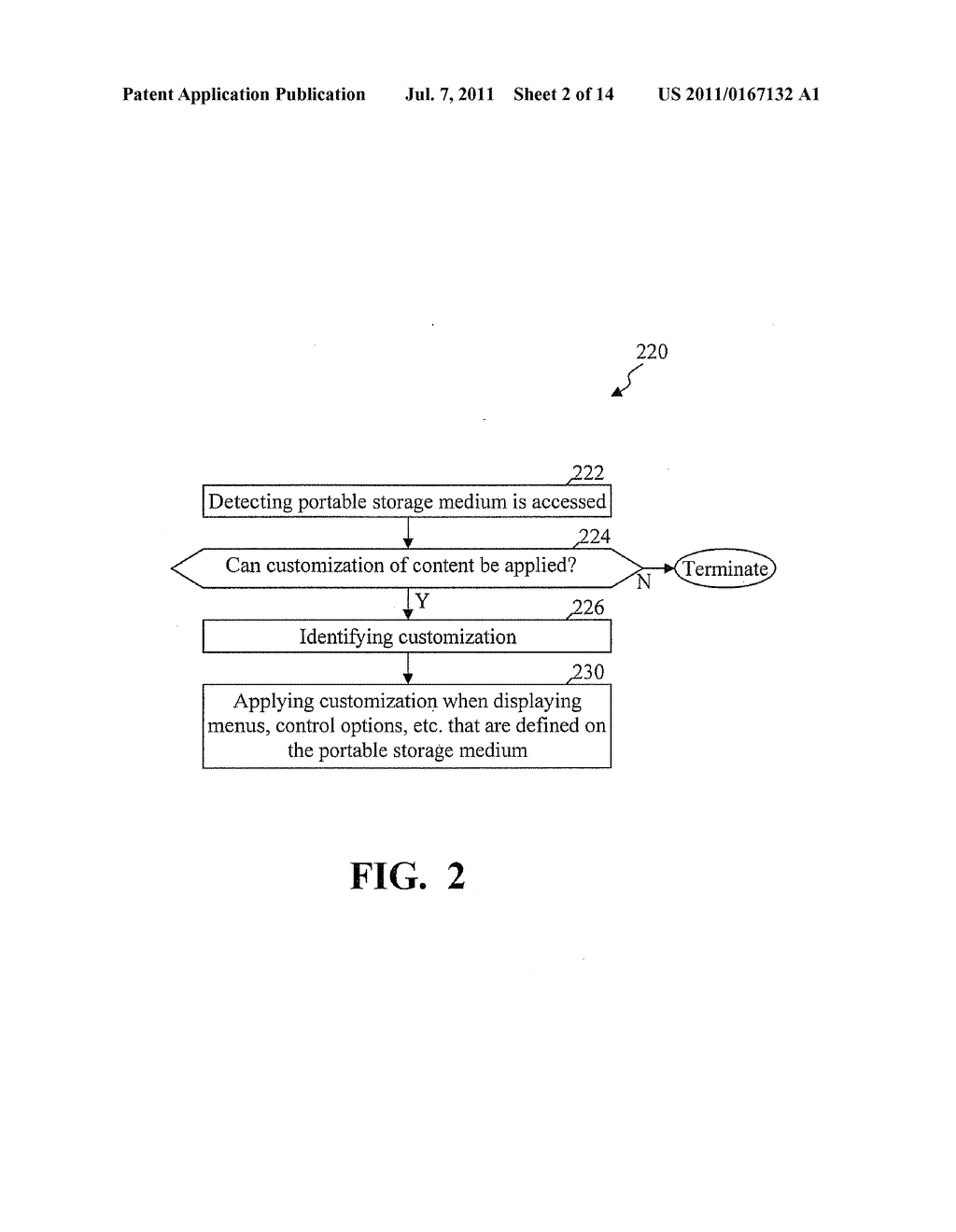 METHODS AND SYSTEMS FOR USE IN CUSTOMIZING DISPLAYED CONTENT ASSOCIATED     WITH A PORTABLE STORAGE MEDIUM - diagram, schematic, and image 03