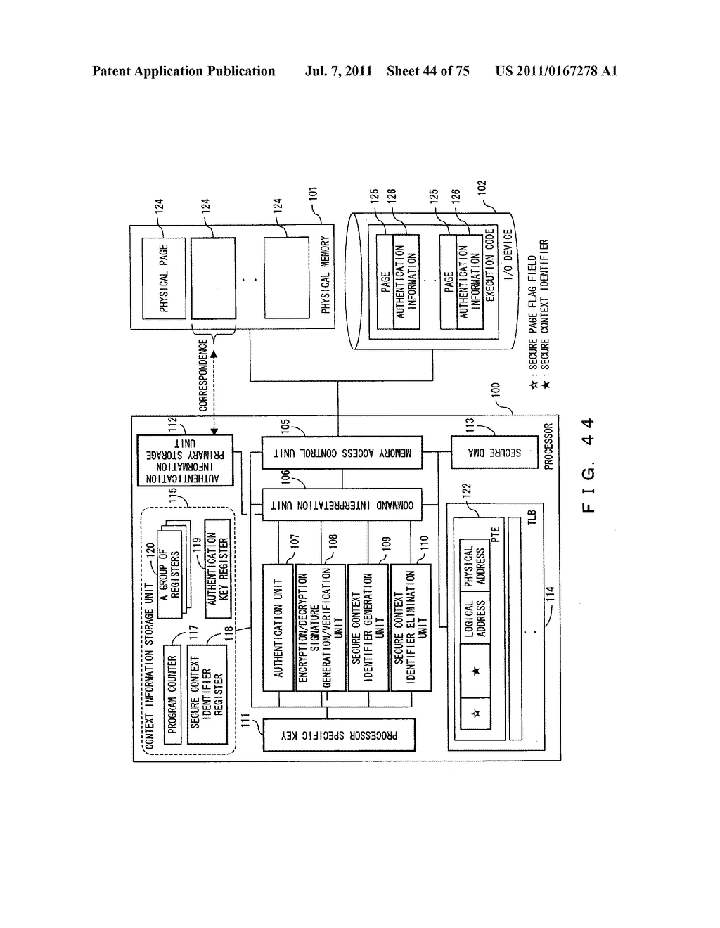 Secure processor and a program for a secure processor - diagram, schematic, and image 45