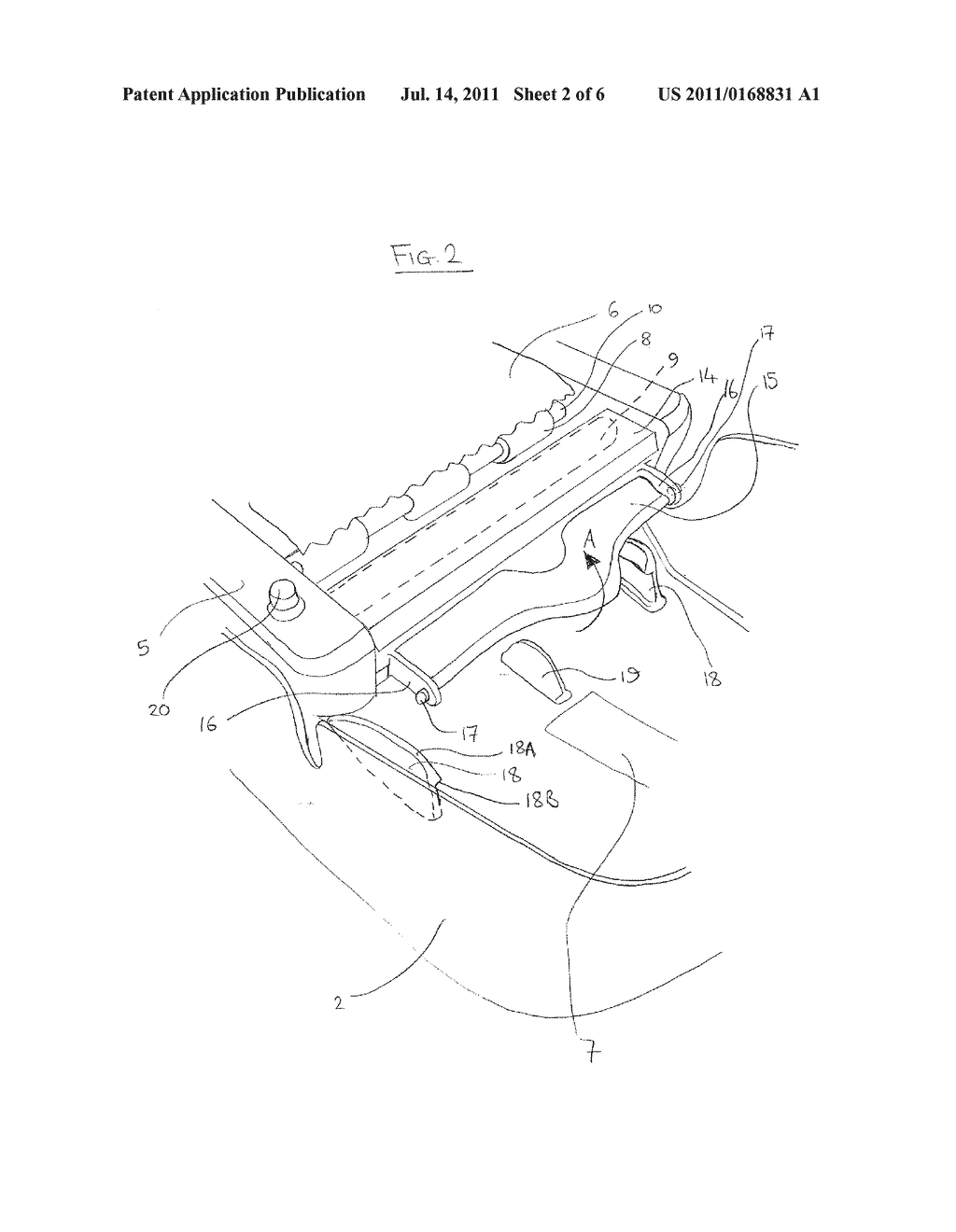 DISPENSER LOADING ARRANGEMENT AND METHOD OF LOADING A DISPENSER - diagram, schematic, and image 03
