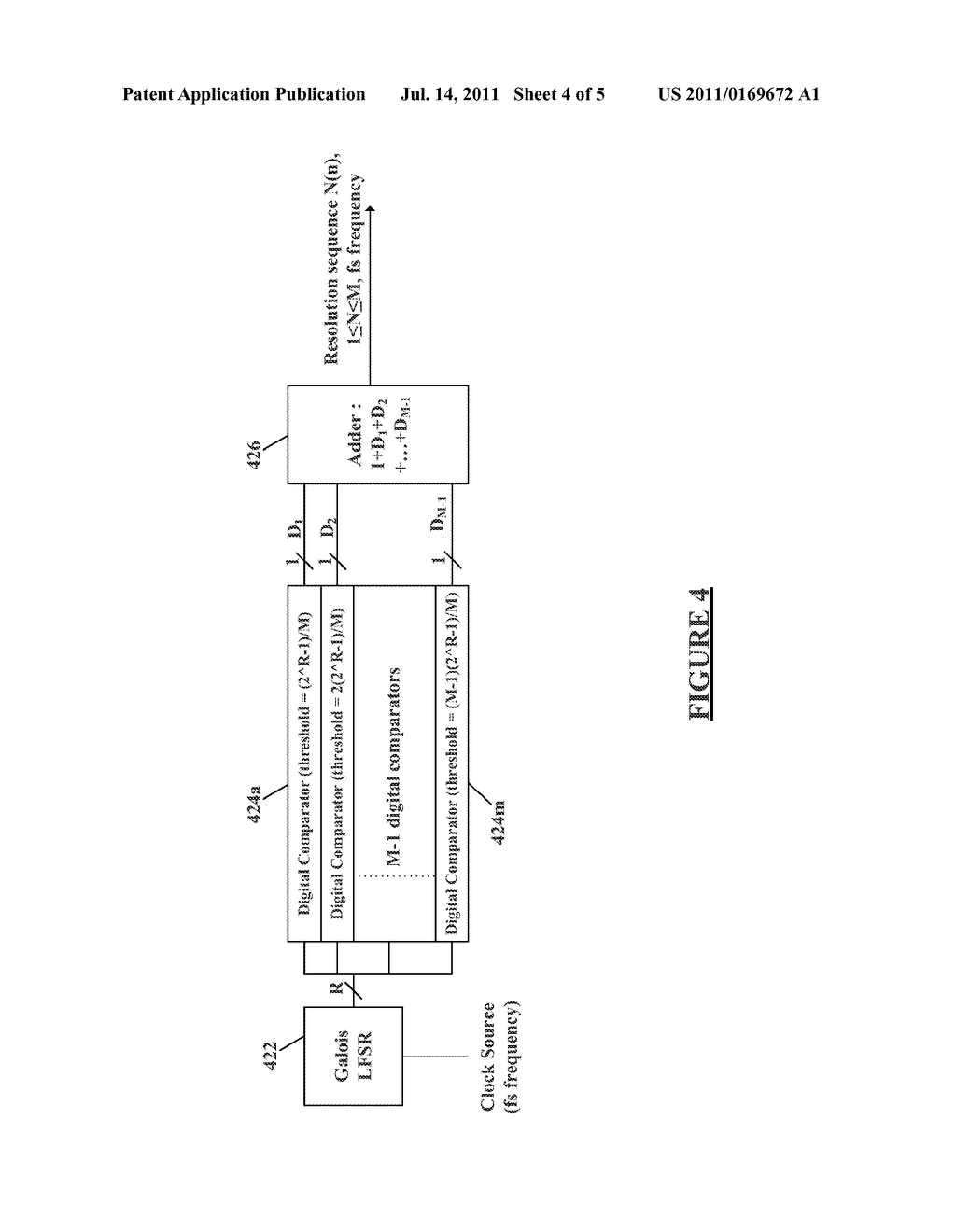METHOD AND APPARATUS FOR DITHERING IN MULTI-BIT SIGMA-DELTA     DIGITAL-TO-ANALOG CONVERTERS - diagram, schematic, and image 05