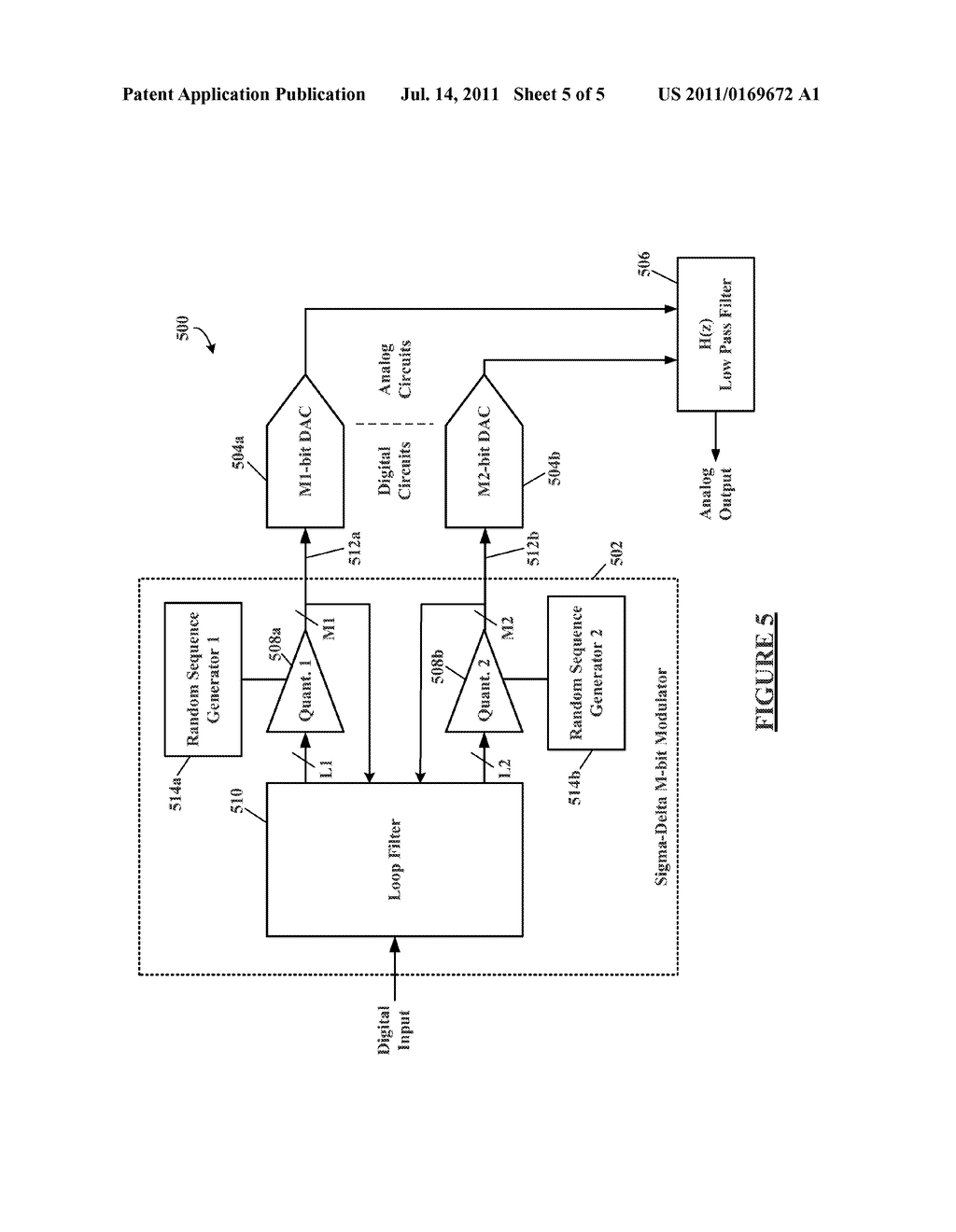 METHOD AND APPARATUS FOR DITHERING IN MULTI-BIT SIGMA-DELTA     DIGITAL-TO-ANALOG CONVERTERS - diagram, schematic, and image 06