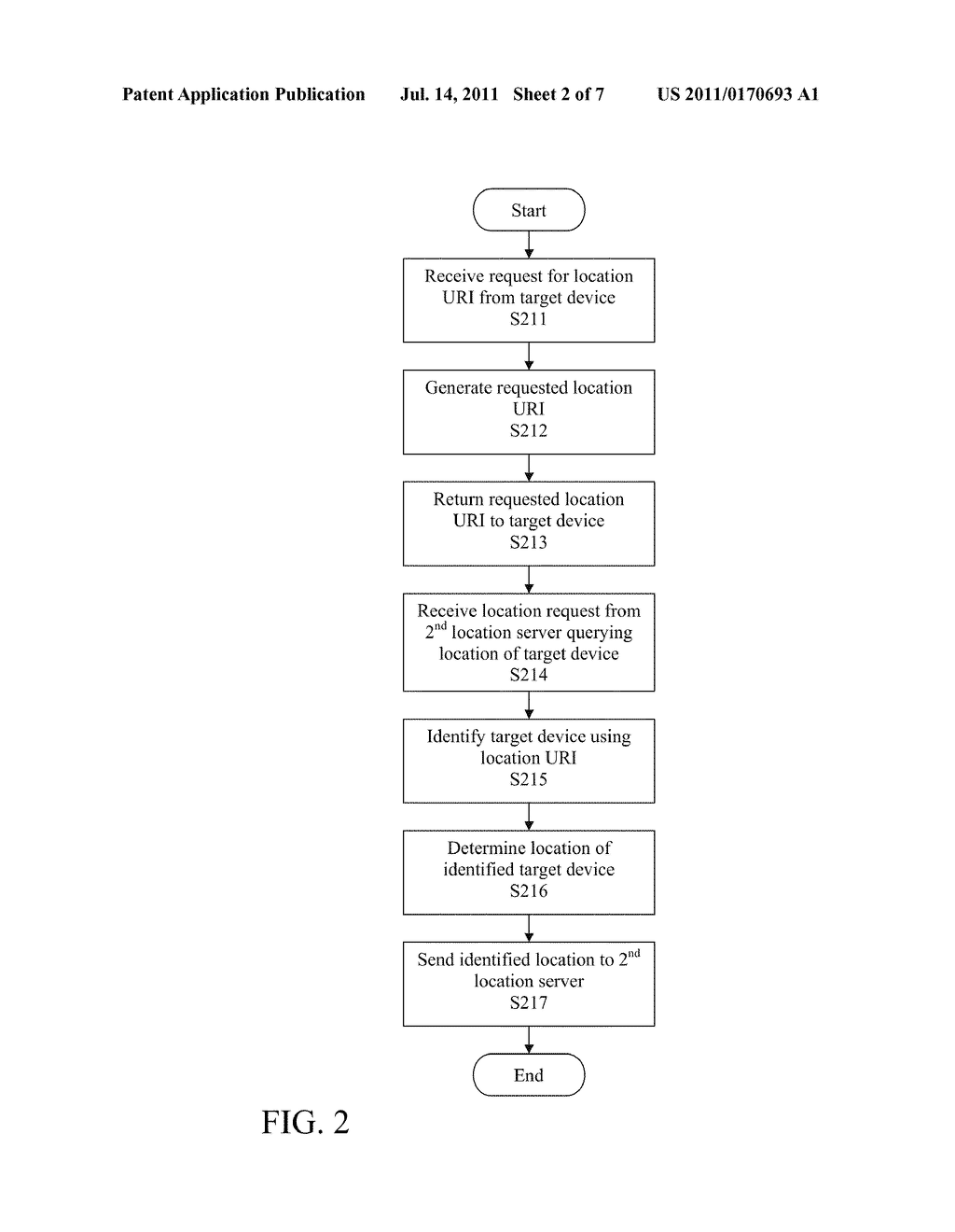 STATELESS METHOD AND SYSTEM FOR PROVIDING LOCATION INFORMATION OF TARGET     DEVICE - diagram, schematic, and image 03