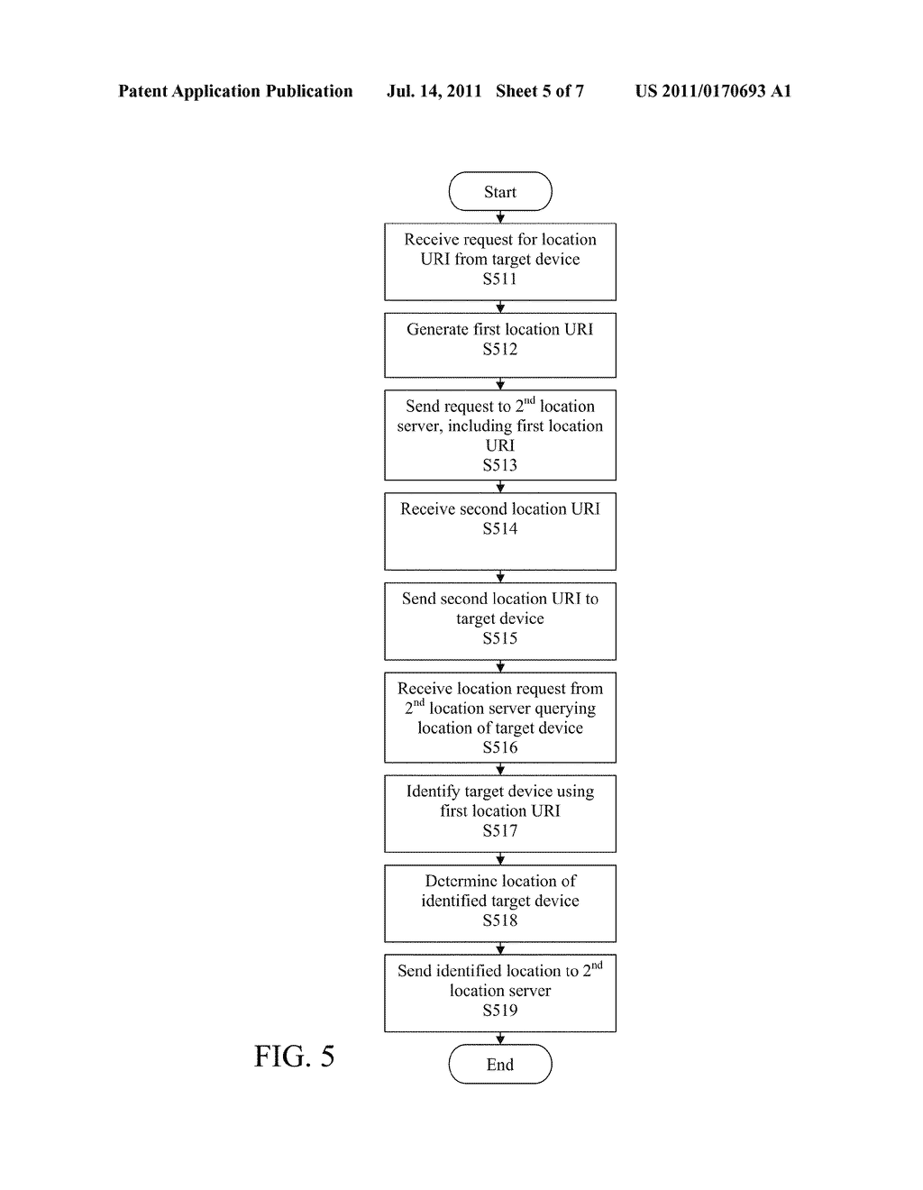 STATELESS METHOD AND SYSTEM FOR PROVIDING LOCATION INFORMATION OF TARGET     DEVICE - diagram, schematic, and image 06