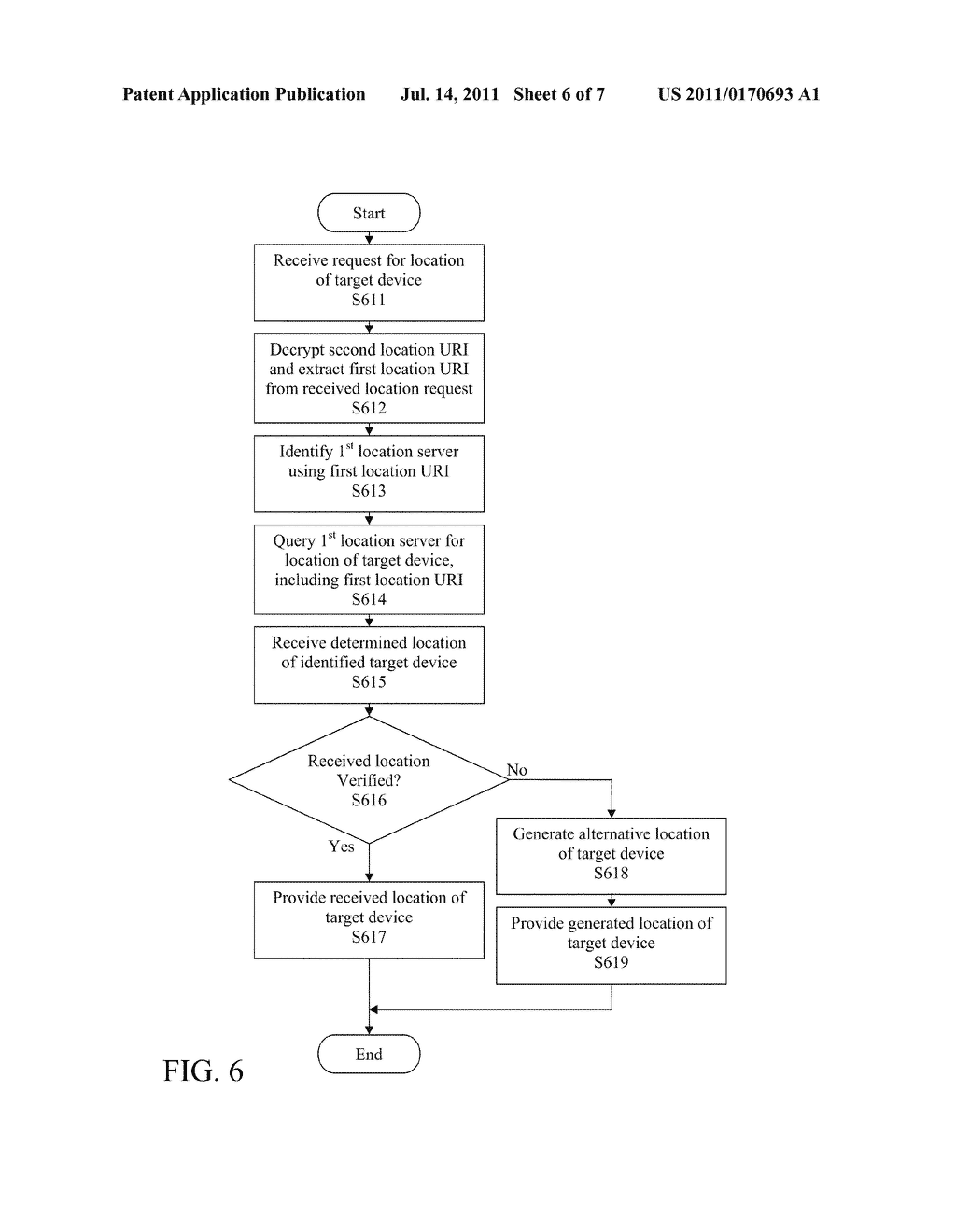 STATELESS METHOD AND SYSTEM FOR PROVIDING LOCATION INFORMATION OF TARGET     DEVICE - diagram, schematic, and image 07