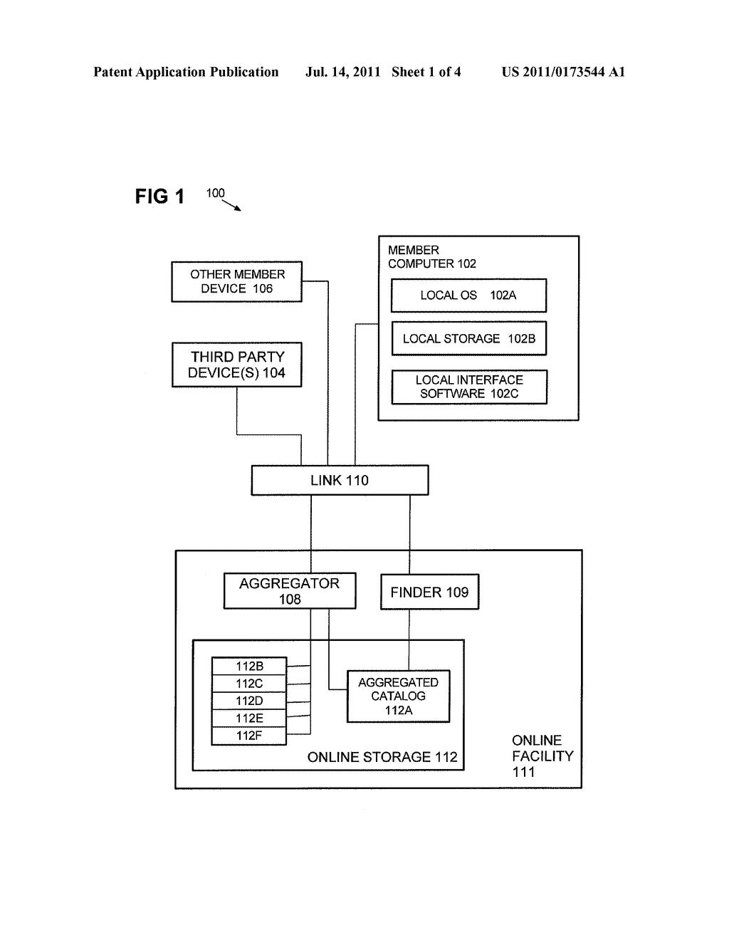 Method and Apparatus Providing Omnibus View of Online and Offline Content     of Various File Types and Sources - diagram, schematic, and image 02