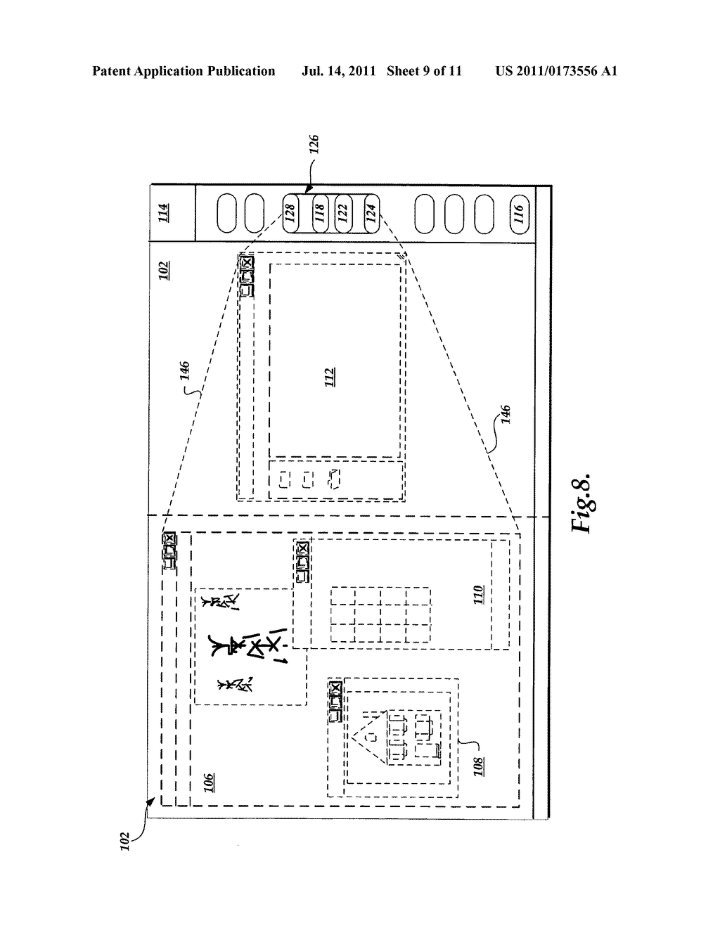 System and method for managing software applications in a graphical user     interface - diagram, schematic, and image 10