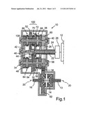 Shiftable twin gear for a twin-clutch transmission and twin-clutch     transmission diagram and image