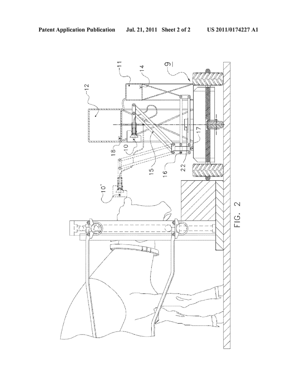 INSTALLATION FOR SUPPLYING LIQUID FEED TO AN ANIMAL AND AN AUTONOMOUSLY     DISPLACEABLE VEHICLE FOR USE IN SUCH AN INSTALLATION - diagram, schematic, and image 03