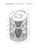 Collapsible squirrel-proof bird feeder diagram and image
