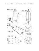 Flying beverage container having attachable reversible finned section diagram and image