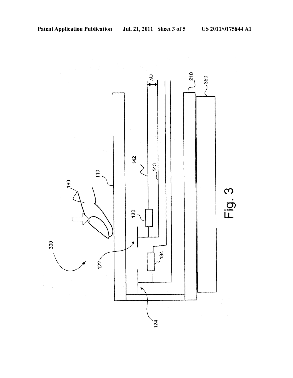 TOUCH SENSING DEVICE, TOUCH SCREEN DEVICE COMPRISING THE TOUCH SENSING     DEVICE, MOBILE DEVICE, METHOD FOR SENSING A TOUCH AND METHOD FOR     MANUFACTURING A TOUCH SENSING DEVICE - diagram, schematic, and image 04