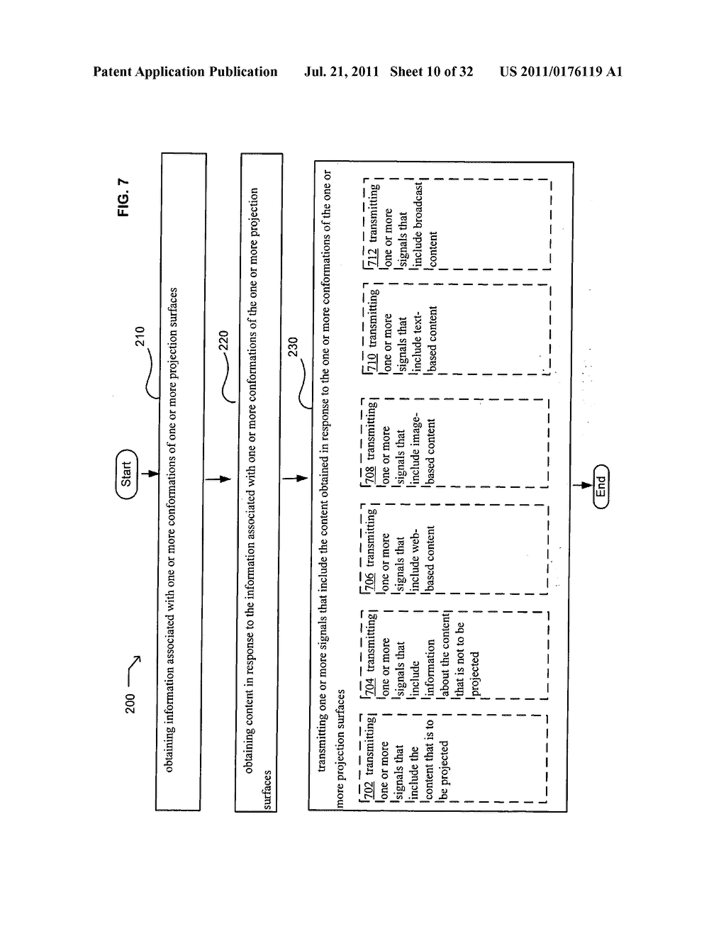 Methods and systems for projecting in response to conformation - diagram, schematic, and image 11