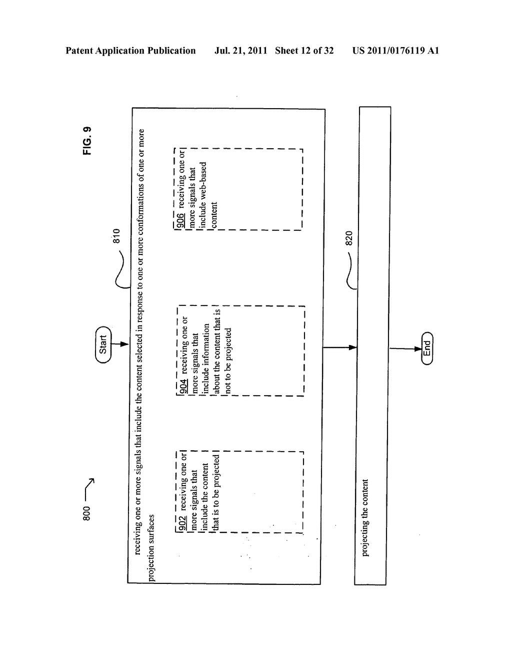 Methods and systems for projecting in response to conformation - diagram, schematic, and image 13