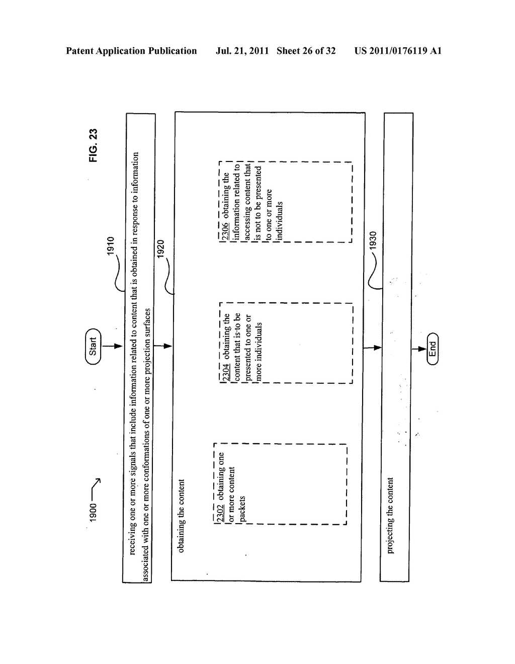Methods and systems for projecting in response to conformation - diagram, schematic, and image 27