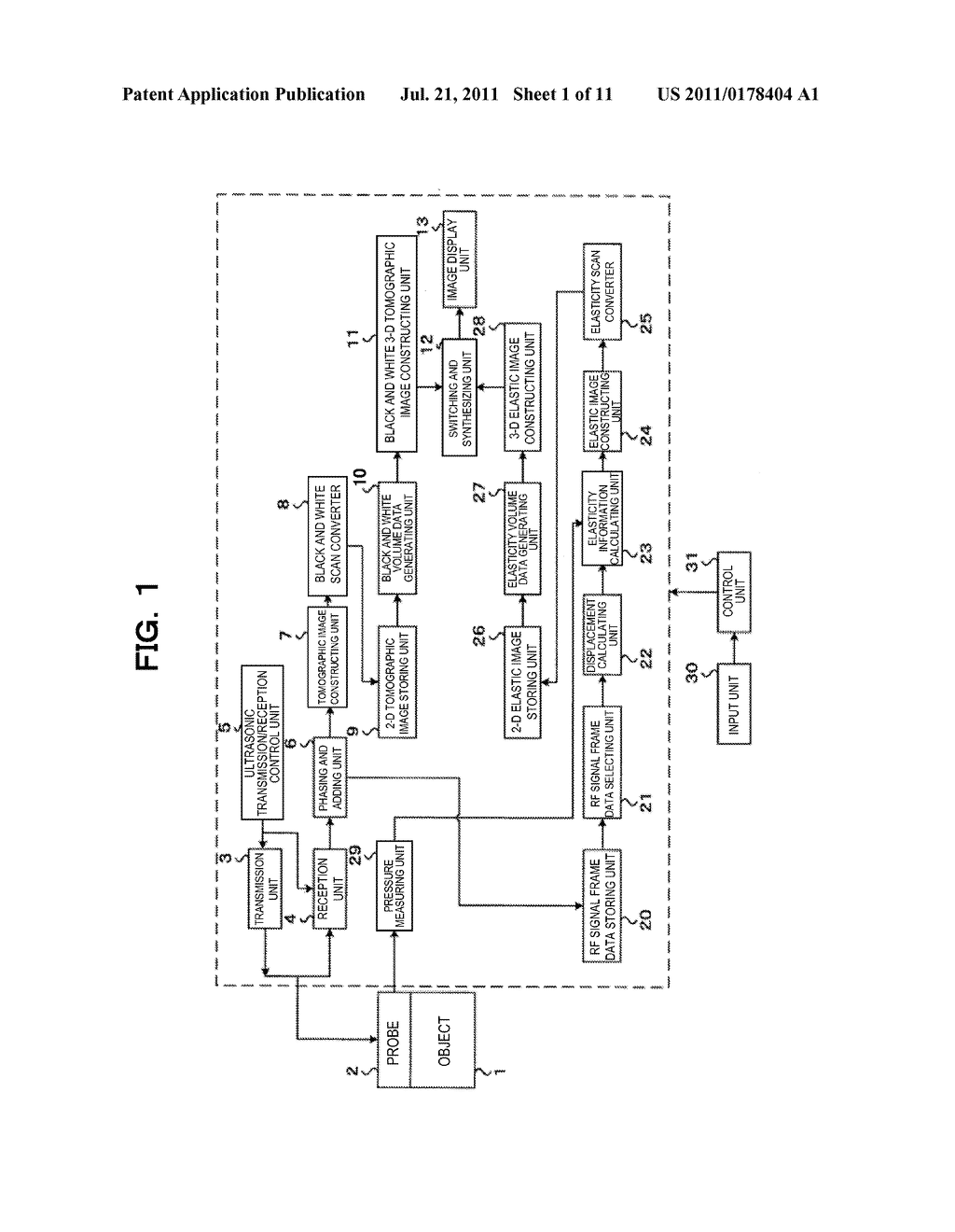ULTRASONIC DIAGNOSTIC APPARATUS AND METHOD OF DISPLAYING ULTRASONIC IMAGE - diagram, schematic, and image 02
