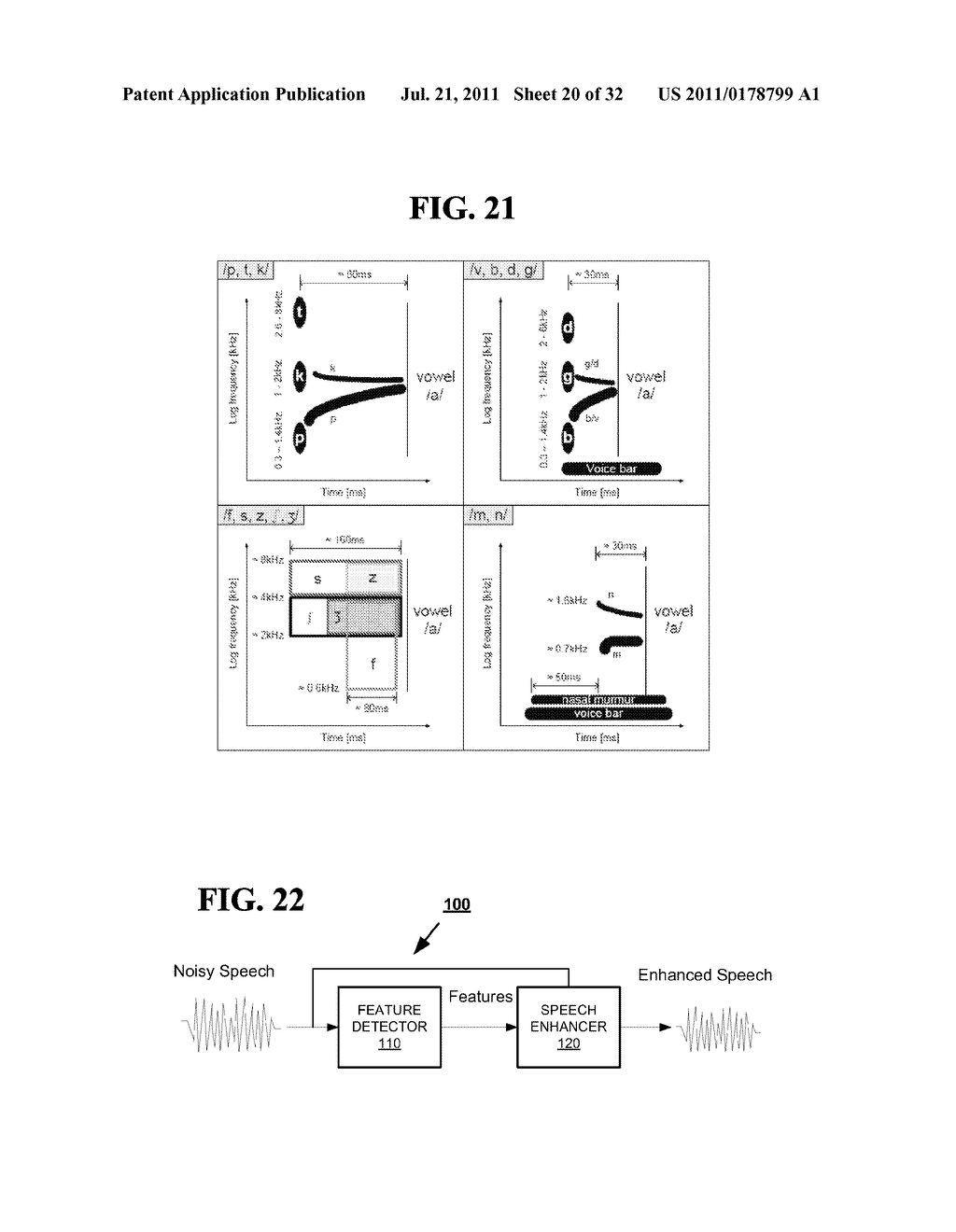 METHODS AND SYSTEMS FOR IDENTIFYING SPEECH SOUNDS USING MULTI-DIMENSIONAL     ANALYSIS - diagram, schematic, and image 21
