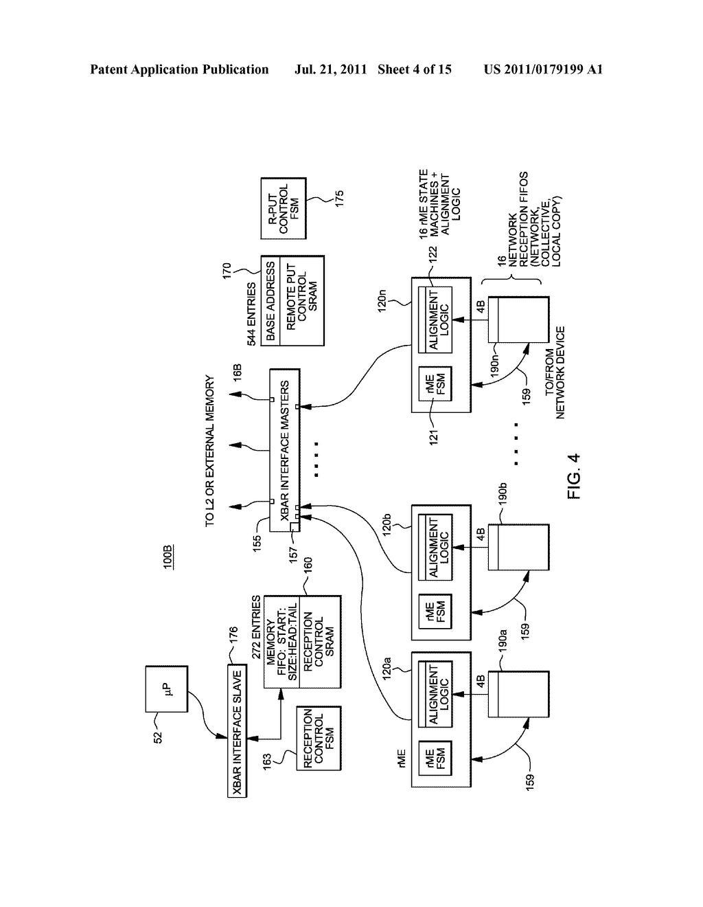 SUPPORT FOR NON-LOCKING PARALLEL RECEPTION OF PACKETS BELONGING TO THE     SAME RECEPTION FIFO - diagram, schematic, and image 05
