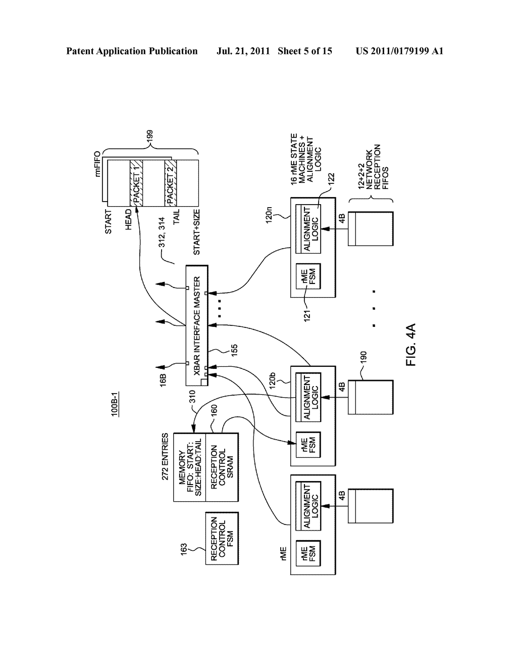 SUPPORT FOR NON-LOCKING PARALLEL RECEPTION OF PACKETS BELONGING TO THE     SAME RECEPTION FIFO - diagram, schematic, and image 06