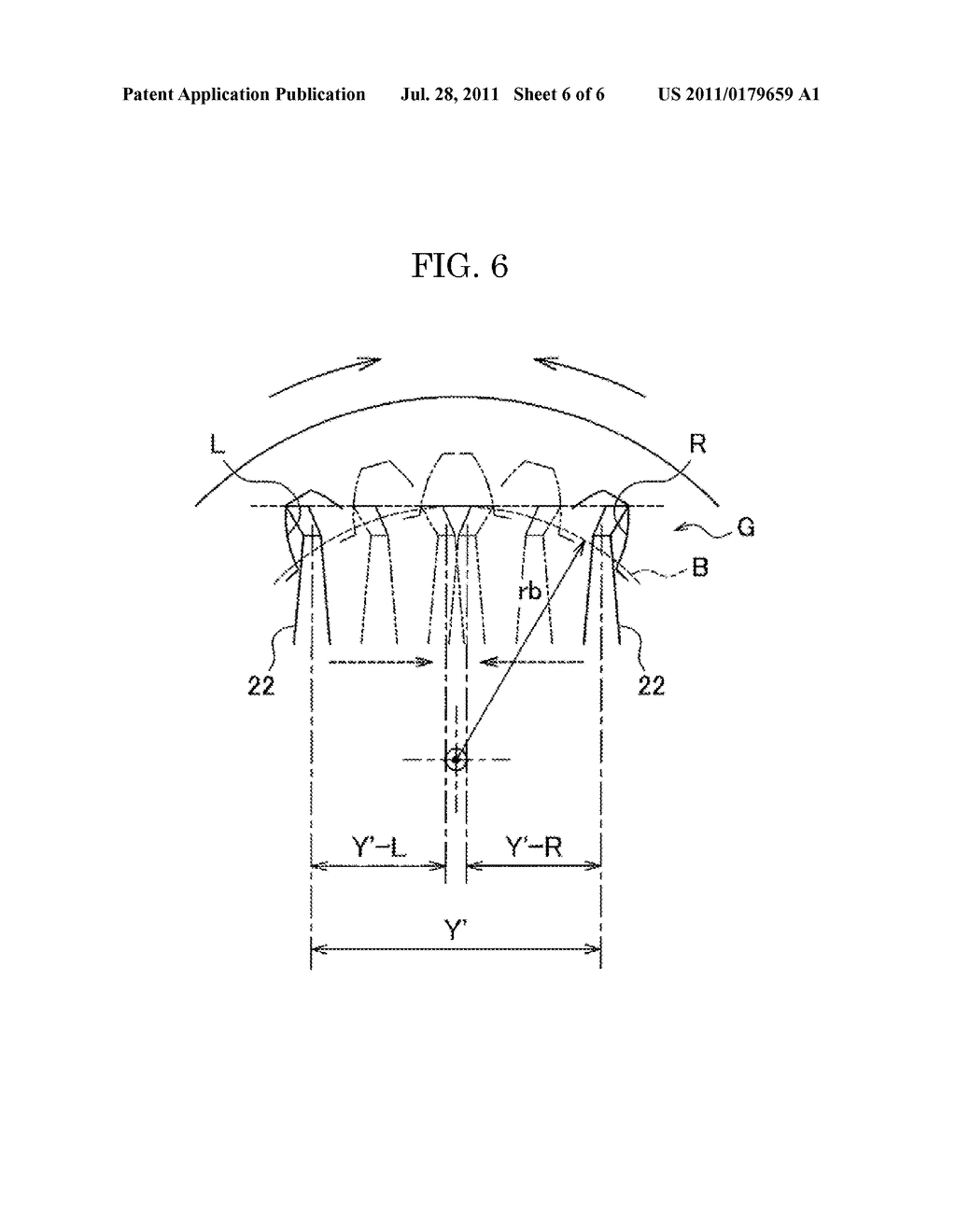 20110179659_07 method of measuring an involute gear tooth profile diagram