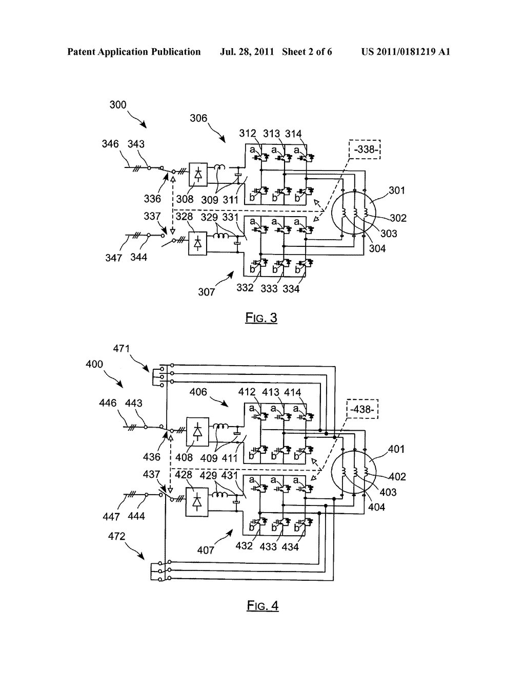 ELECTRIC ACTUATOR INCLUDING TWO CURRENT-CONTROLLED VOLTAGE INVERTERS     POWERING AN ELECTRIC MACHINE, AND RECONFIGURABLE IN THE PRESENCE OF A     DEFECT - diagram, schematic, and image 03